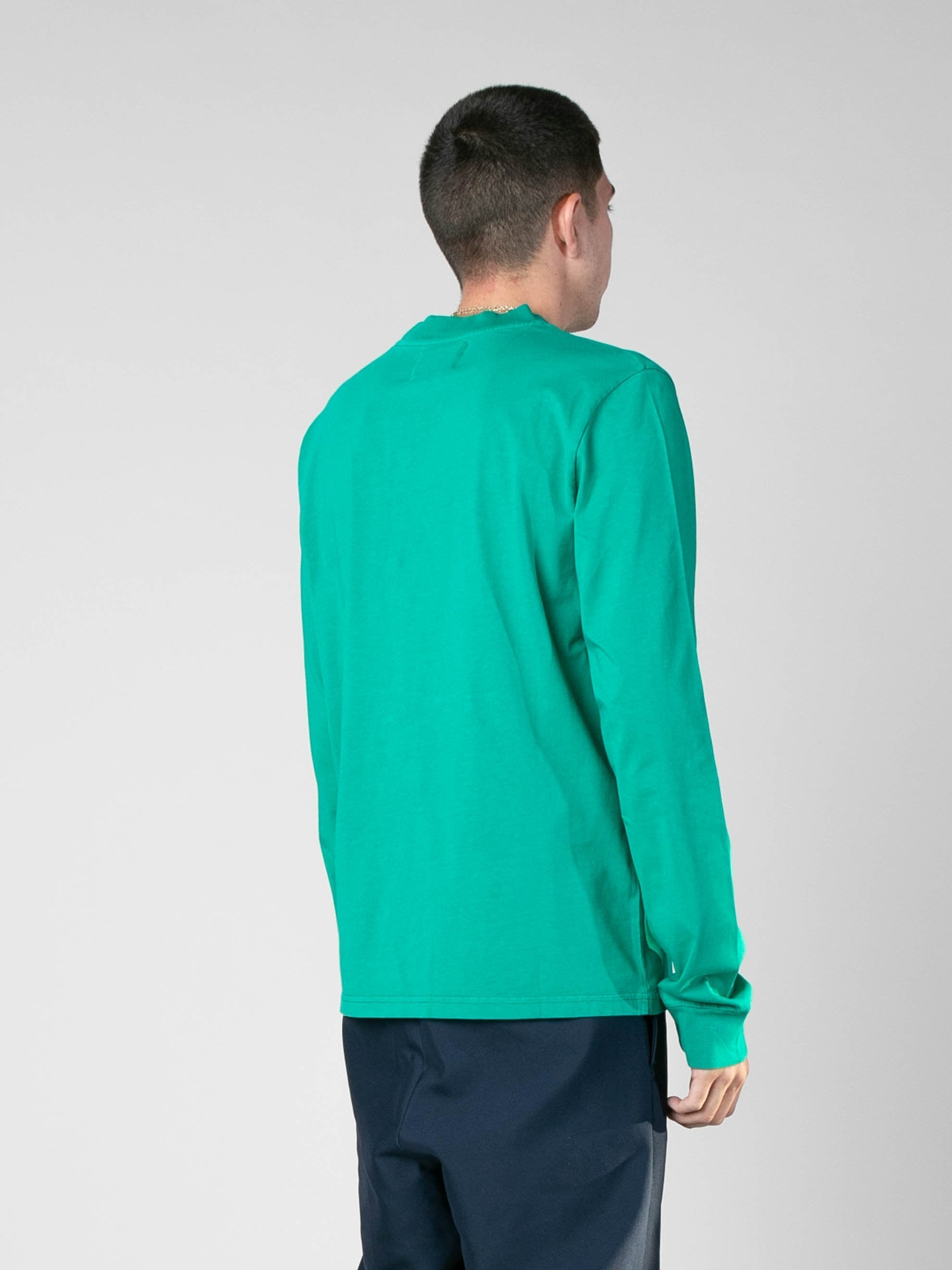 Grass Green Long Sleeve Embroidery Top 4
