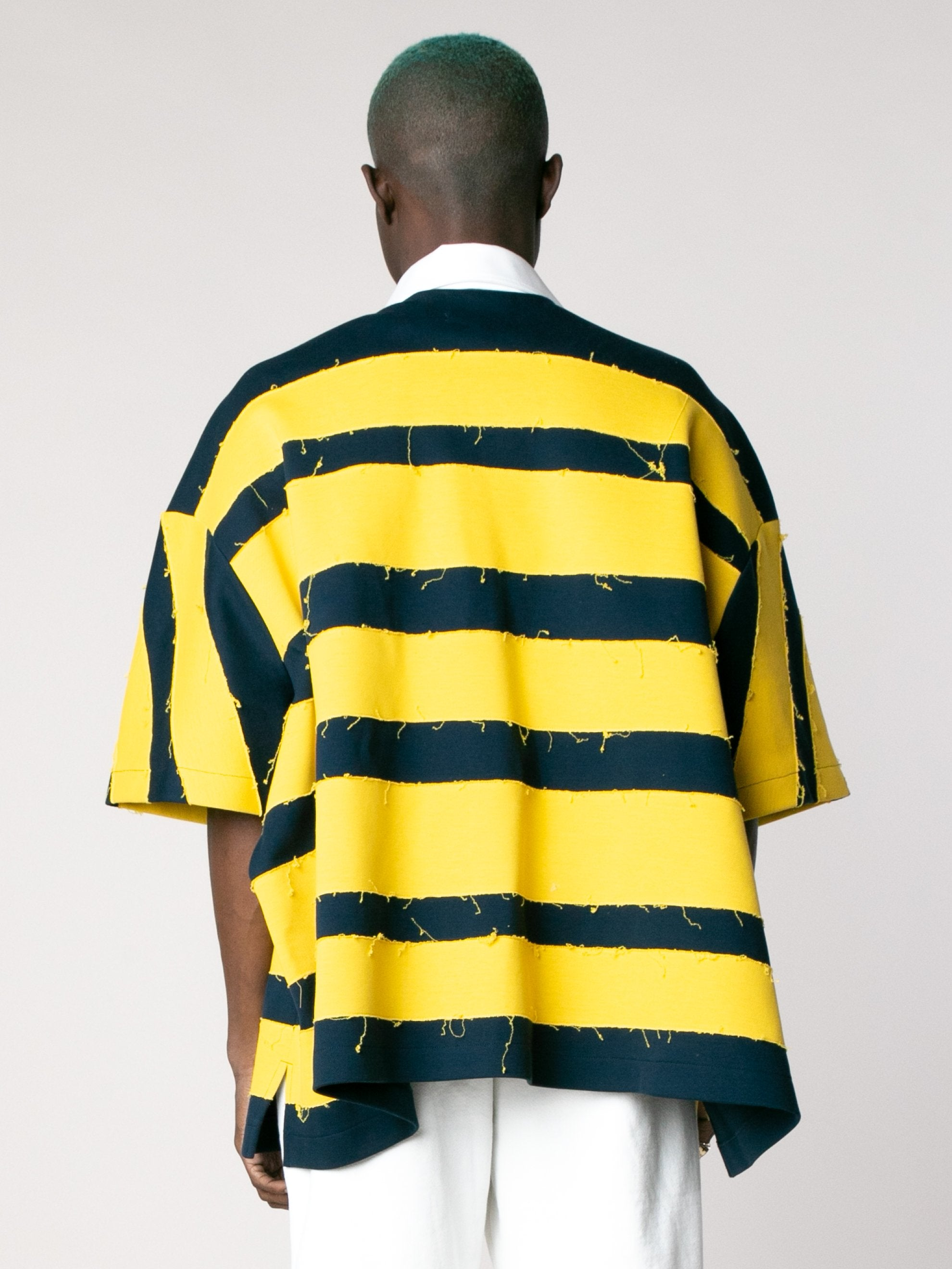 Yellow Navy Crash Polo Short Sleeves 6