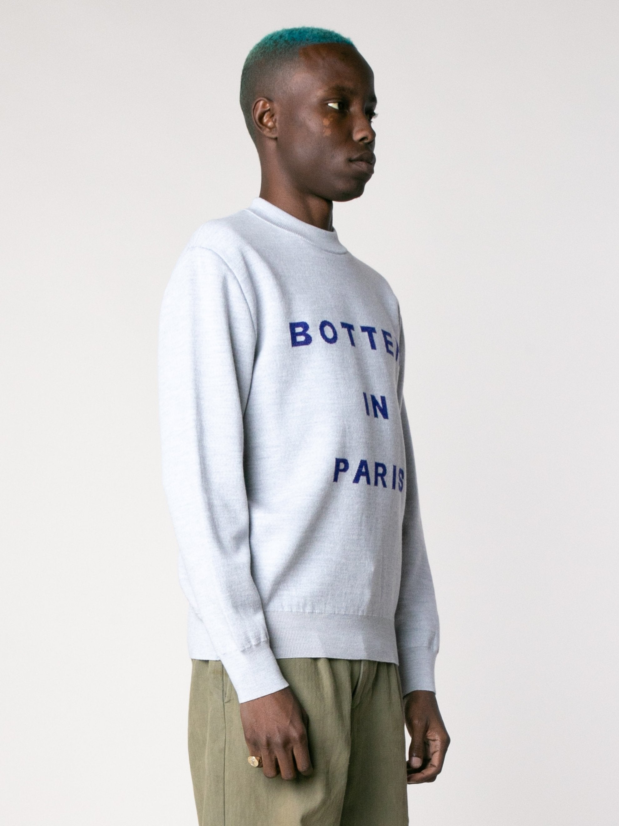 Mid Grey Melange Jacquard Botter Knit 4