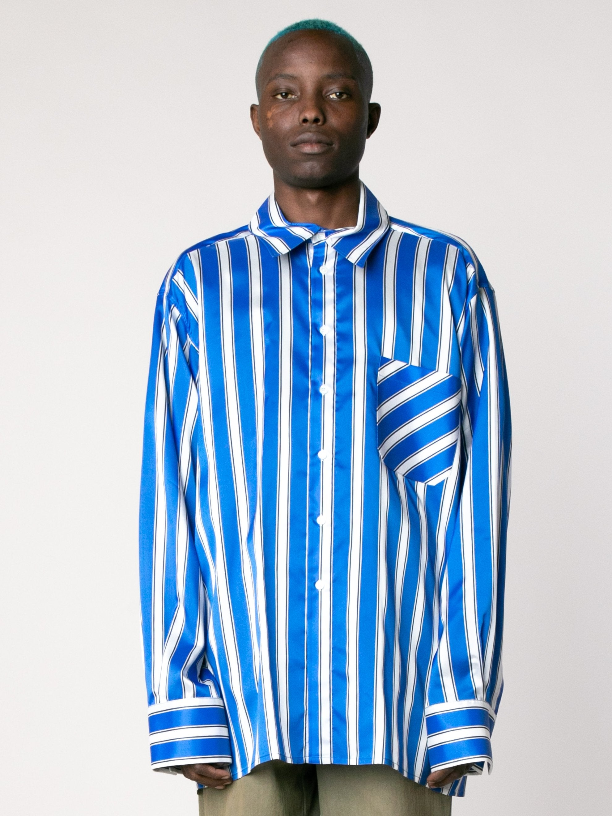 White Cobalt Side Label Lining Shirt 2