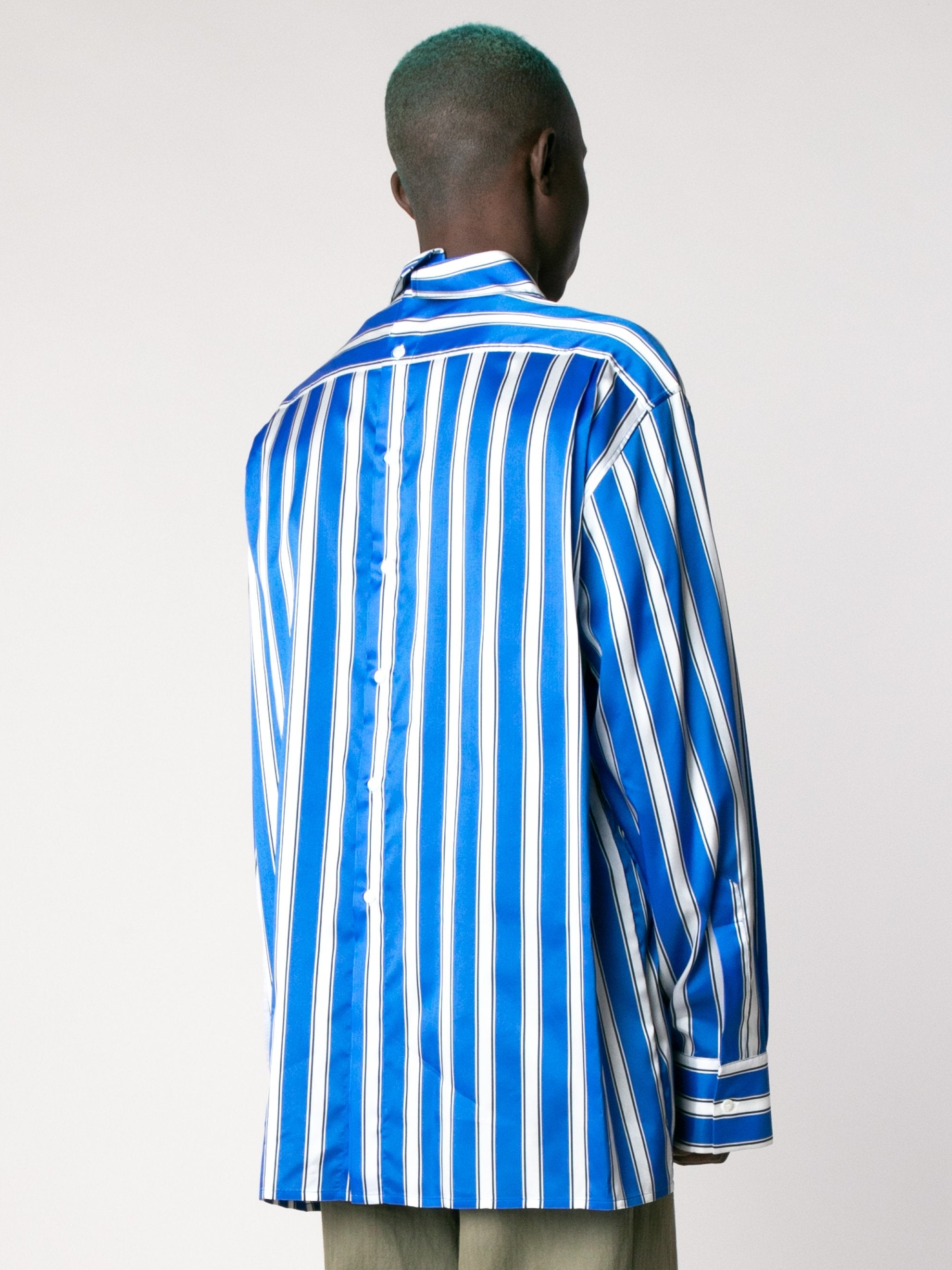 White Cobalt Side Label Lining Shirt 5