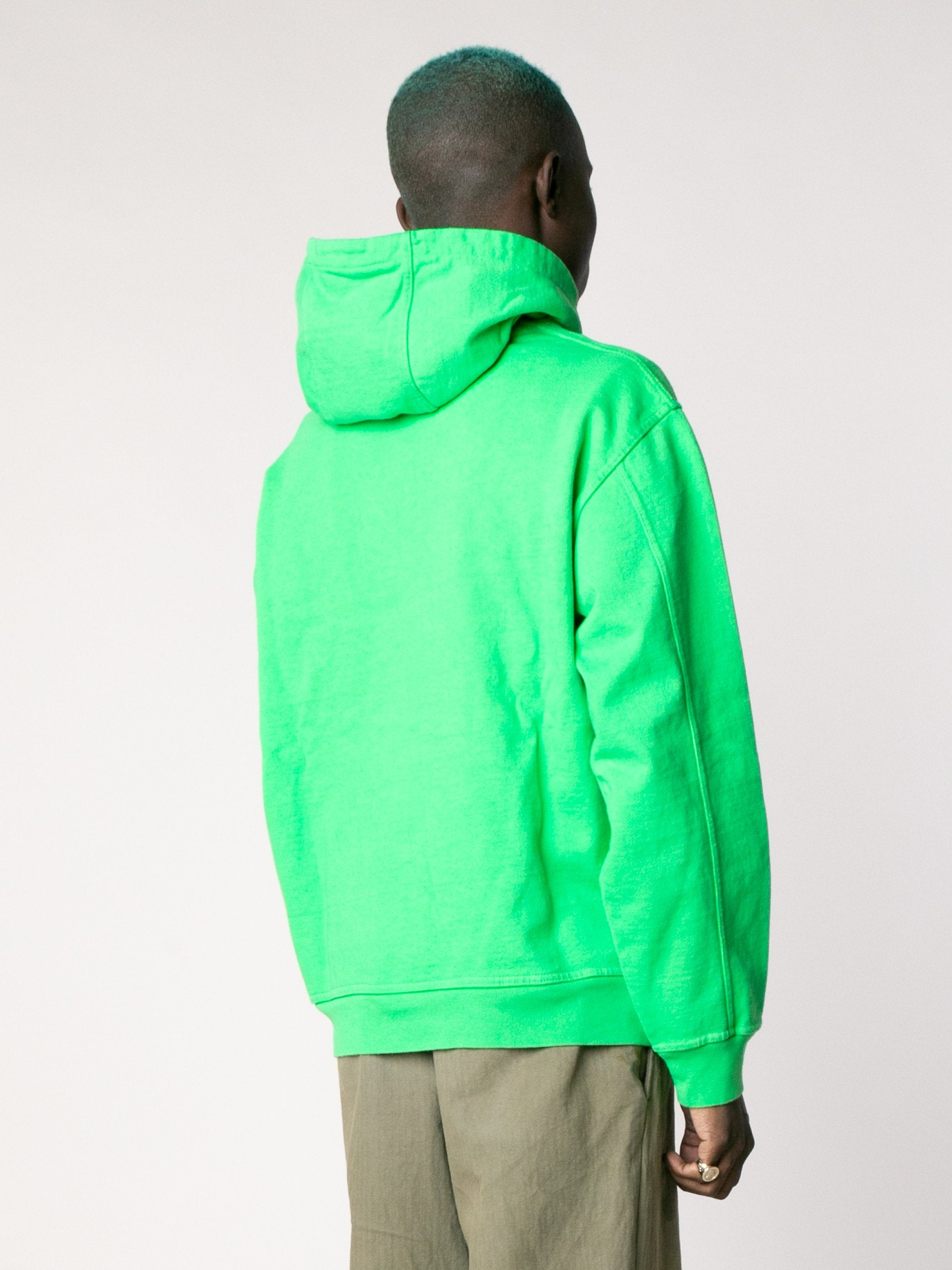 Kelly Green Embroidered Graffiti Hoodie 5
