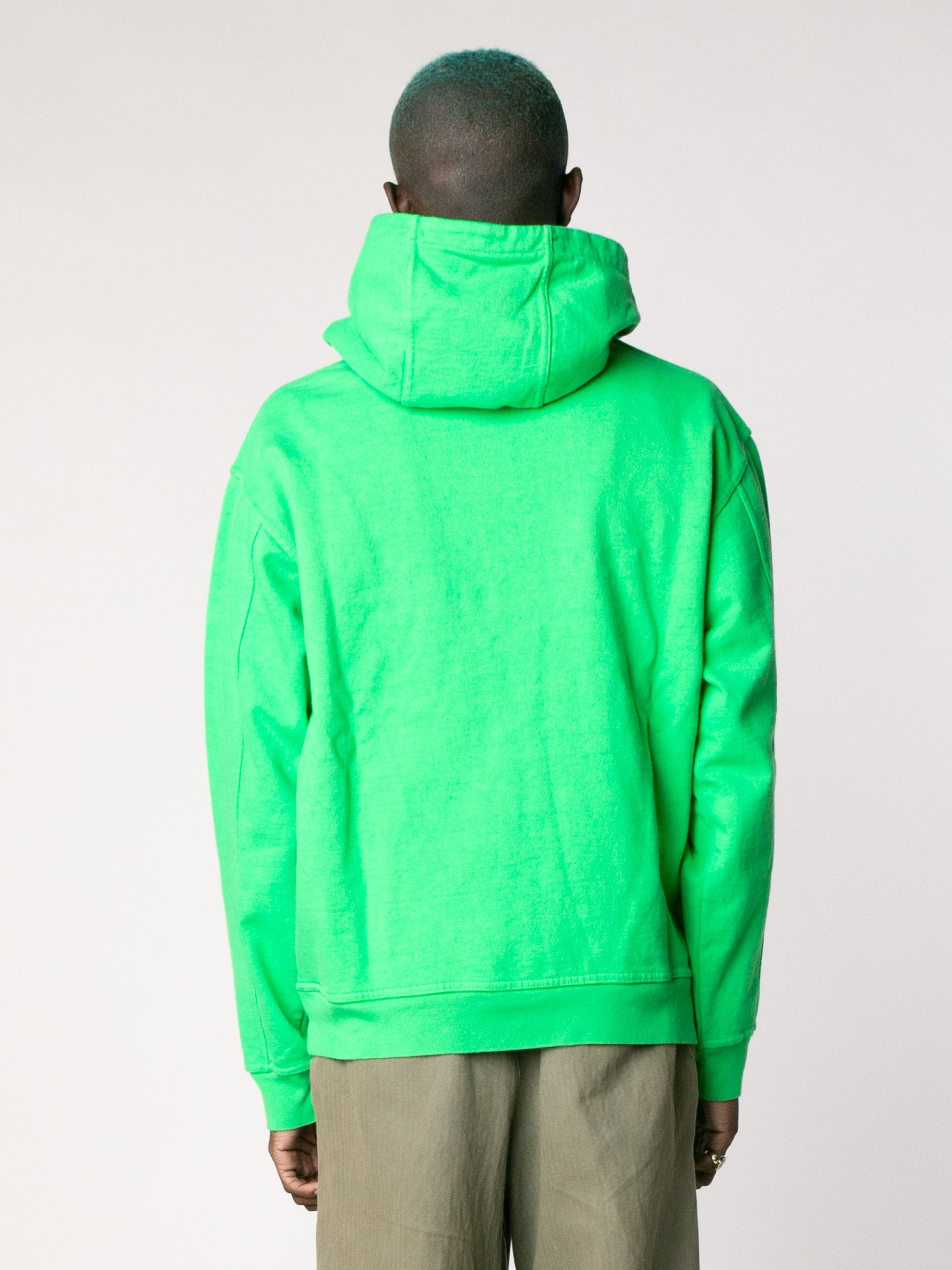Kelly Green Embroidered Graffiti Hoodie 6