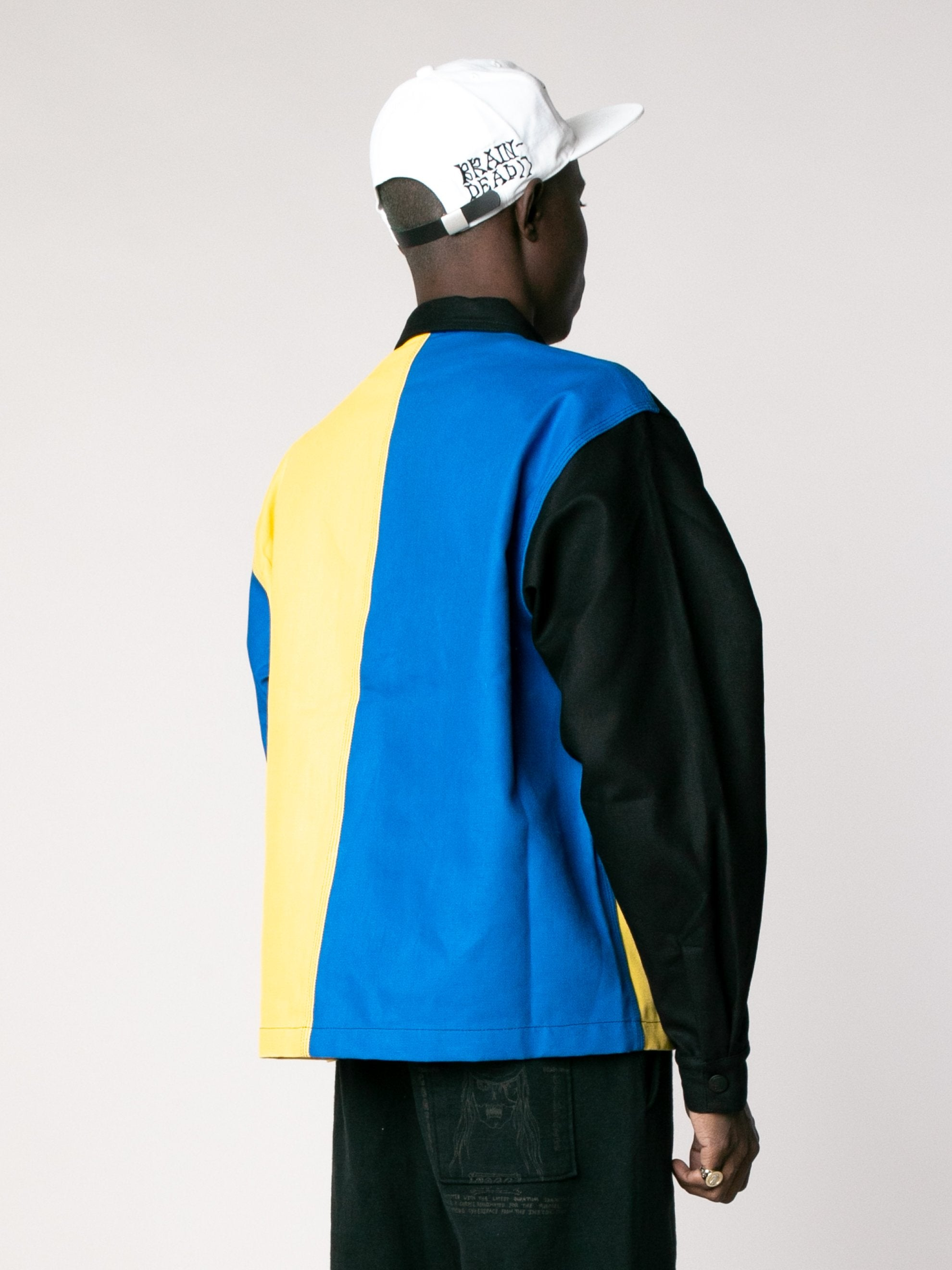 Yellow / Blue /Color Block Canvas Chore Coat 5