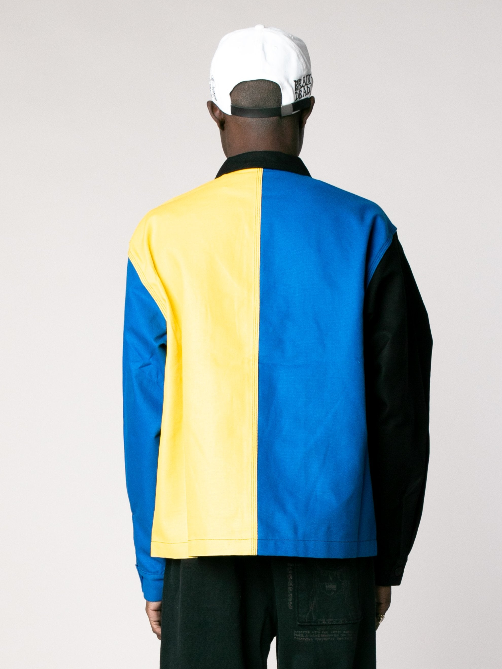 Yellow / Blue /Color Block Canvas Chore Coat 6