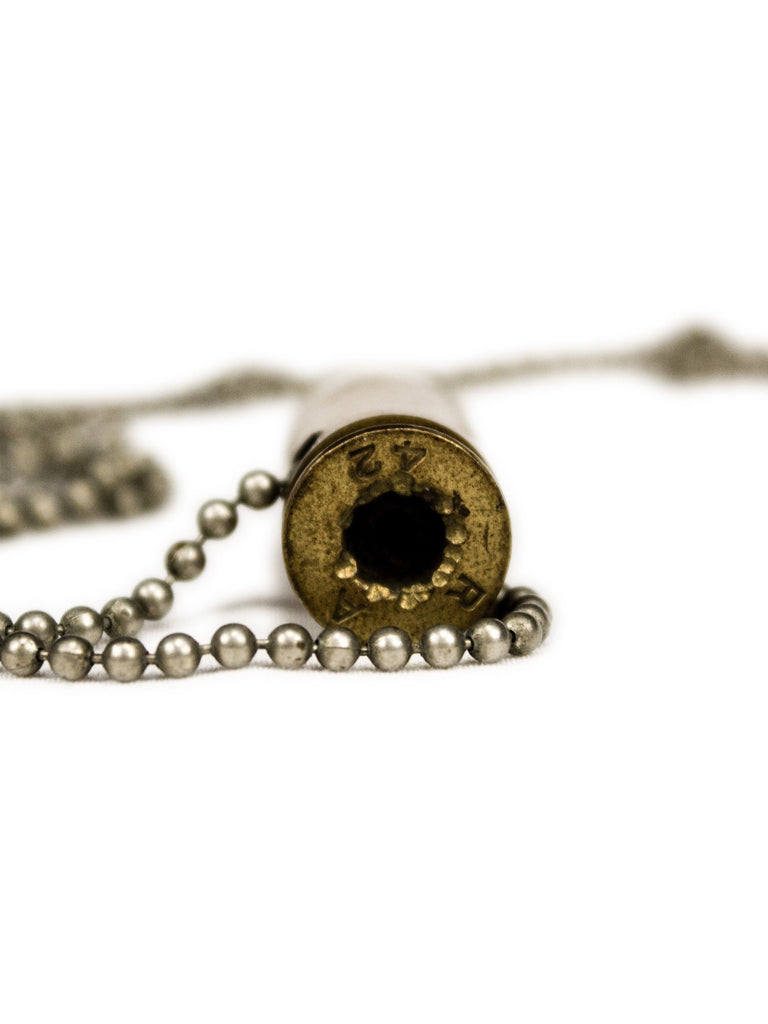 Vintage WWII Deactivated .42 Caliber Bullet Necklace
