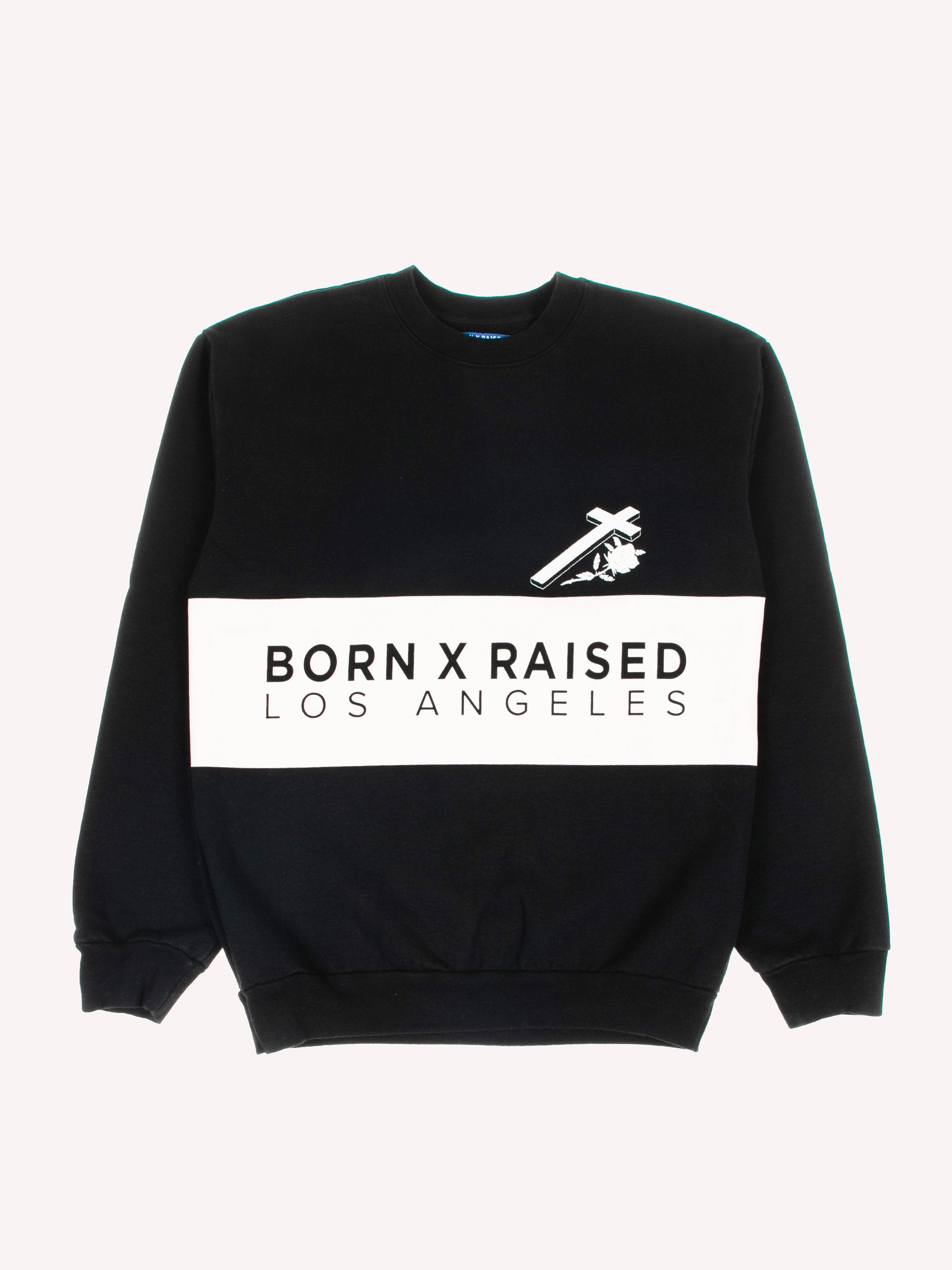 Black Cream Color Block Crewneck 1