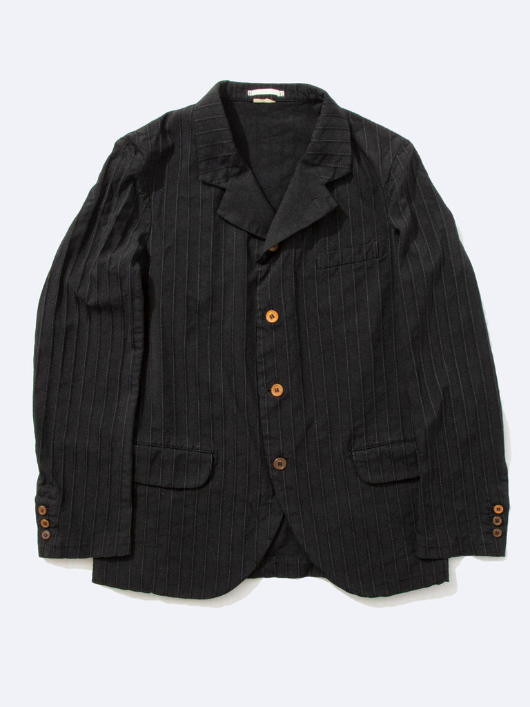 Stripe Boiled Poly Blazer