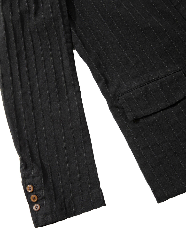 Black Stripe Boiled Poly Blazer 1018408742473