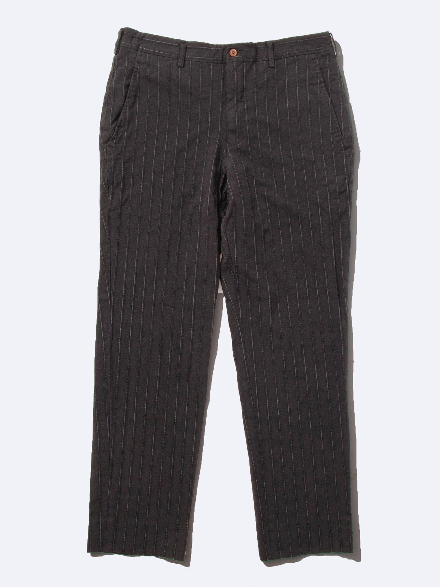 Black Stripe Poly Boiled Trouser 1