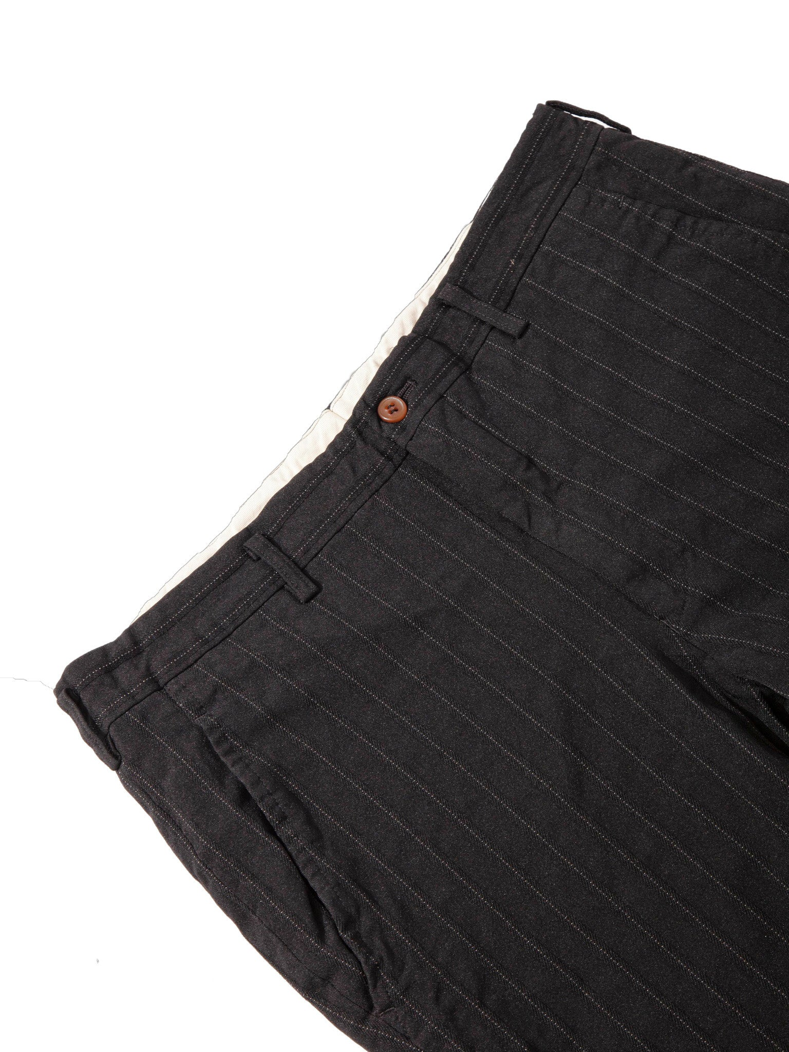 Black Stripe Poly Boiled Trouser 6