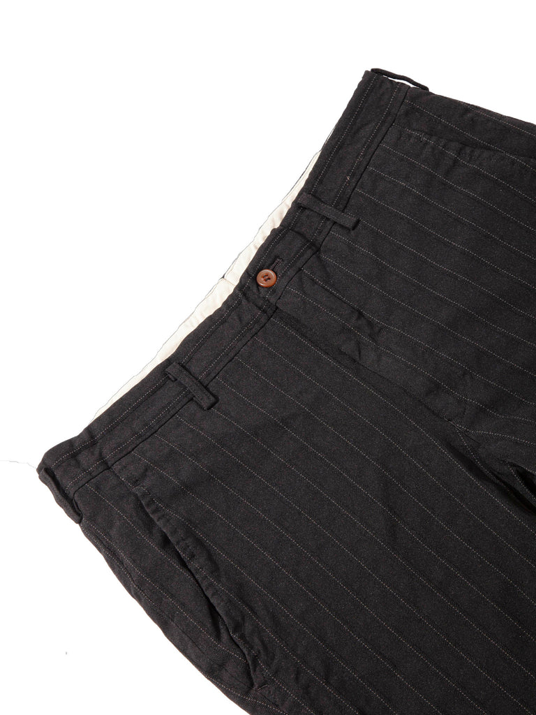 Black Stripe Poly Boiled Trouser 618408535945