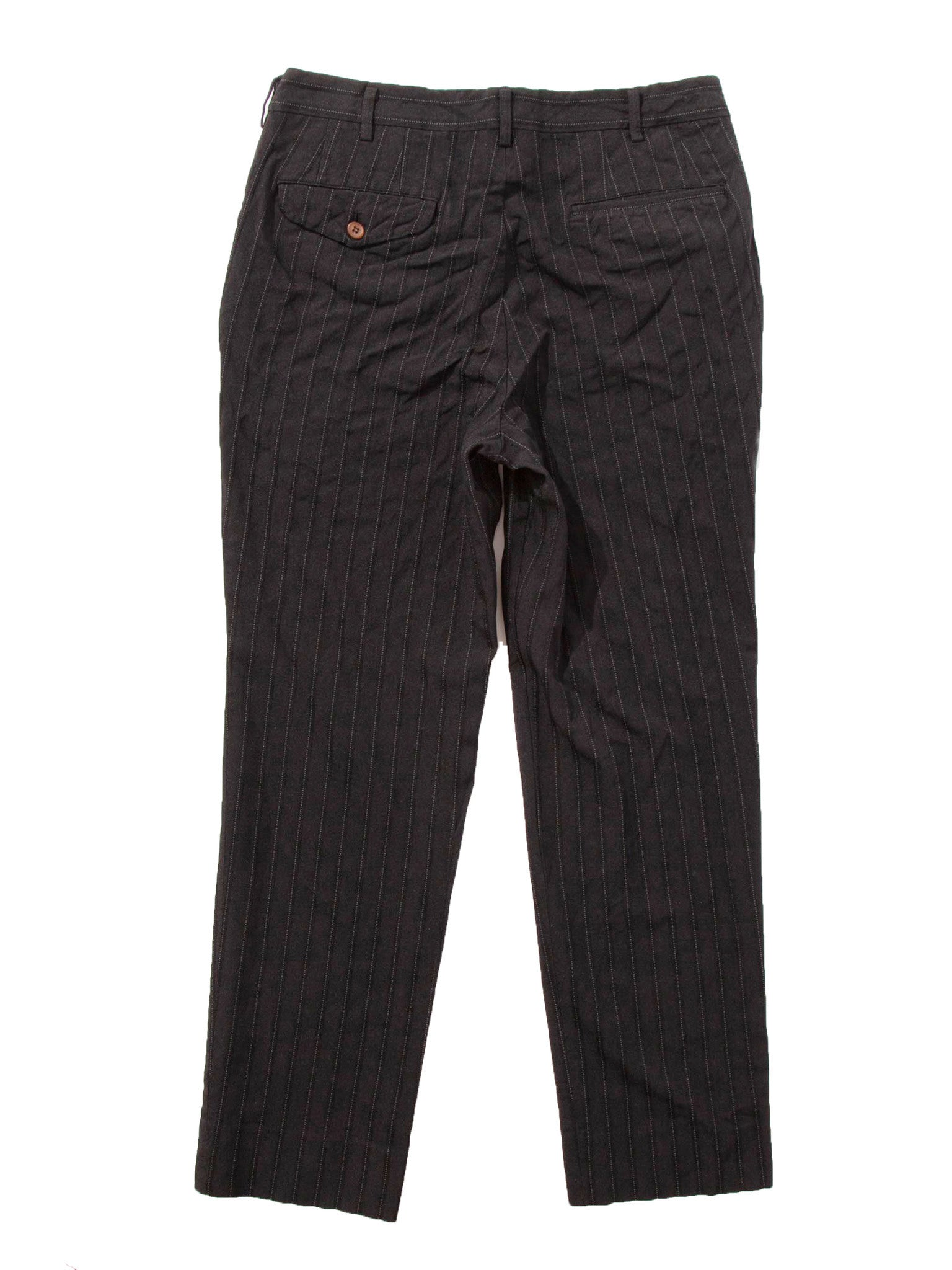 Black Stripe Poly Boiled Trouser 5