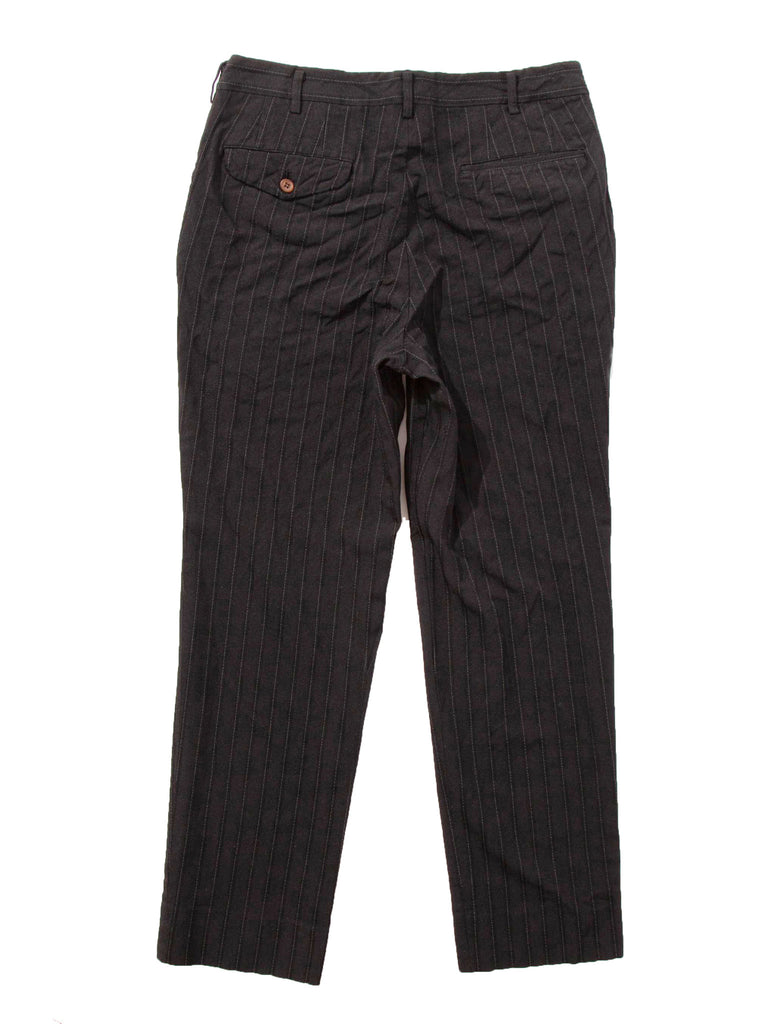 Black Stripe Poly Boiled Trouser 518408536713