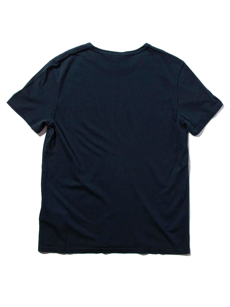 Navy Garment Dyed Classic SS Crew T-Shirt 1019109067785