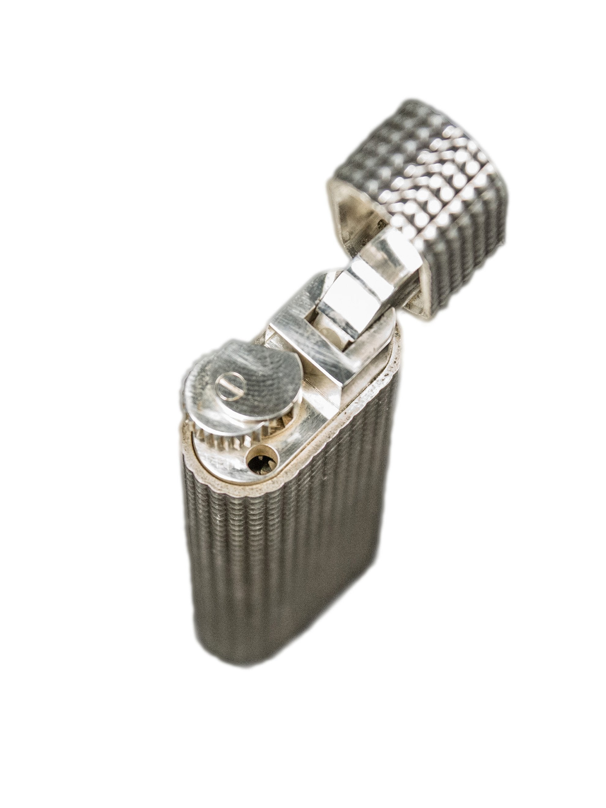 Rare Vintage Diamond Cut Swiss Made Cartier of Paris Gas Lighter