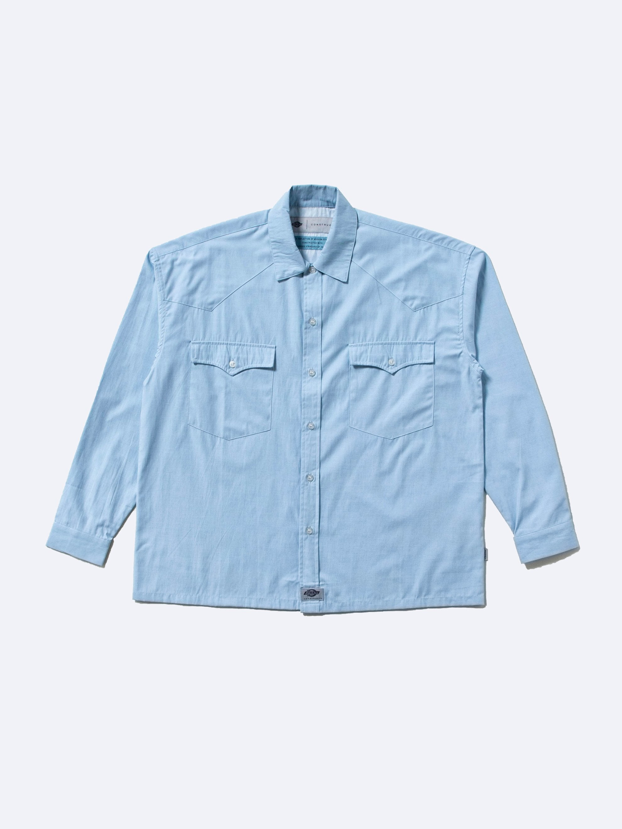 Muted Blue Western Shirt 1