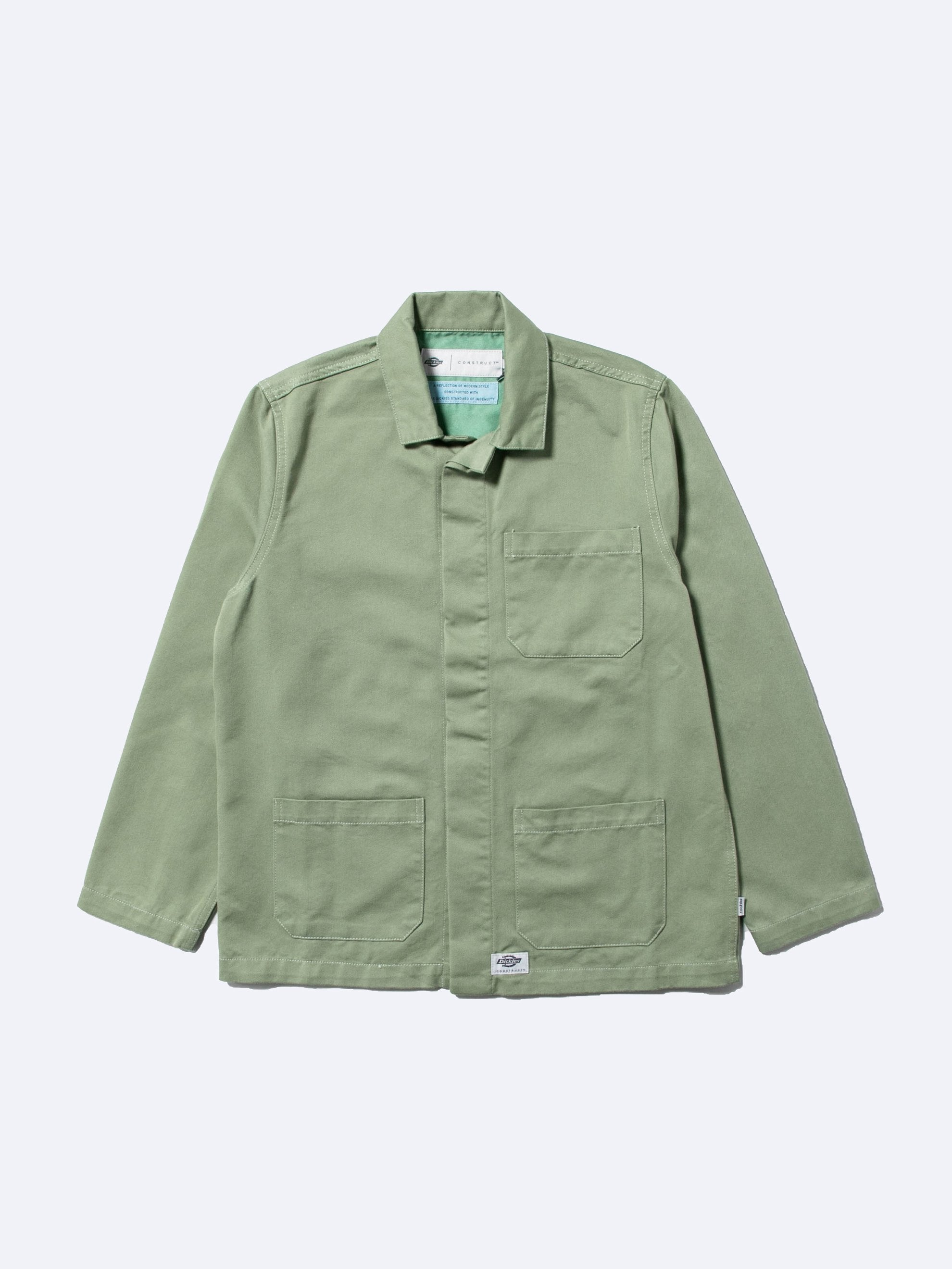 Worker Green / Pop Green Chore Jacket 1