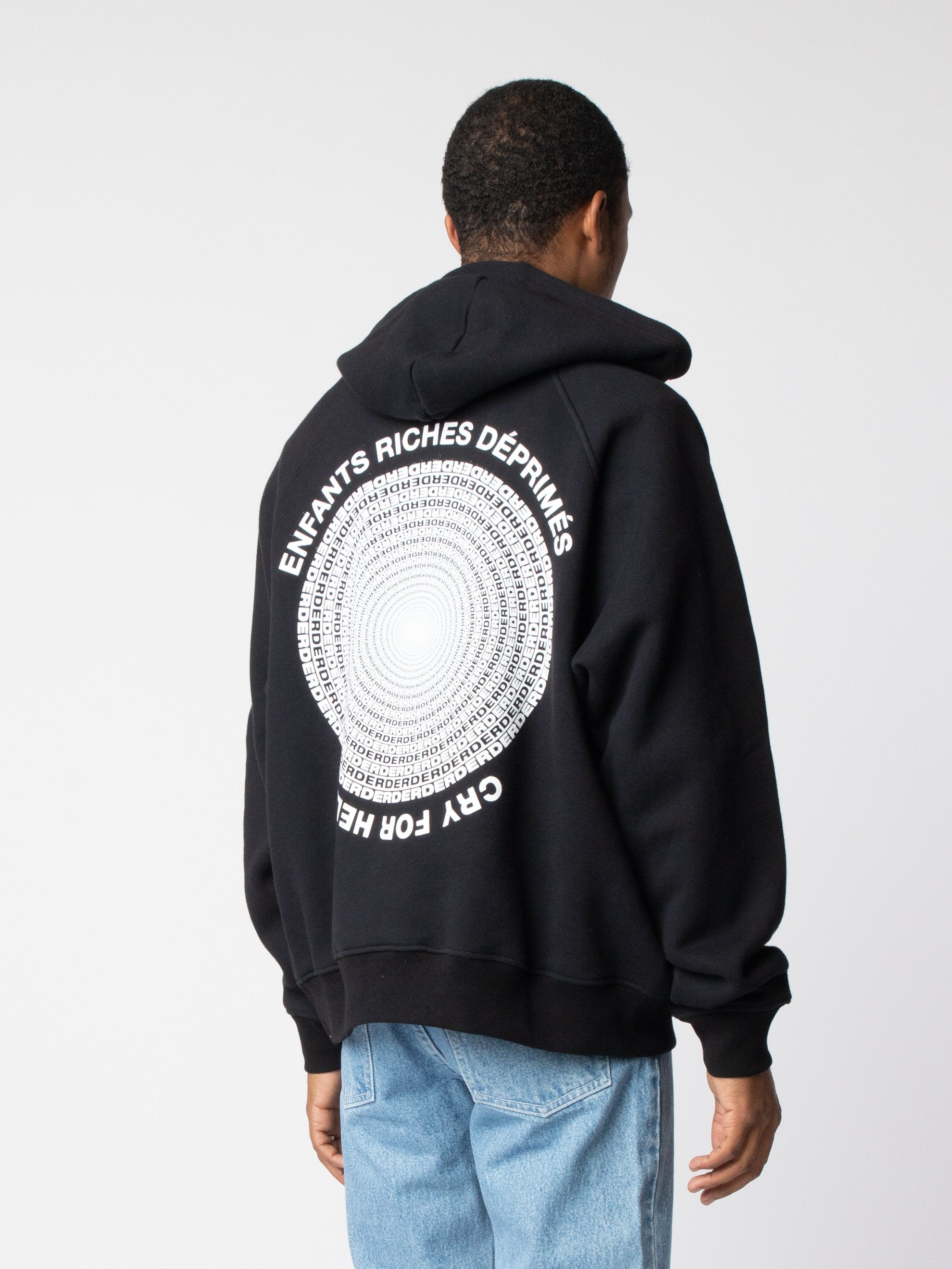 Black/White Cry For Help Hoodie 5
