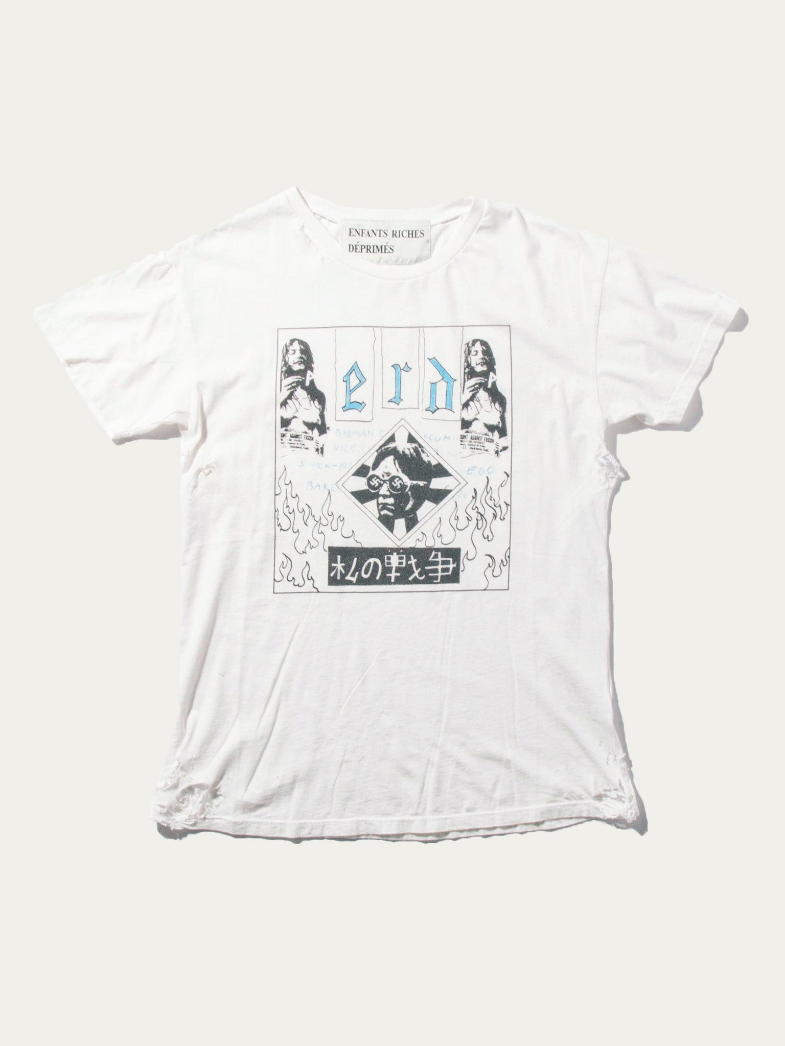 White/Multi Bohemian Elitist Scum T-Shirt 1