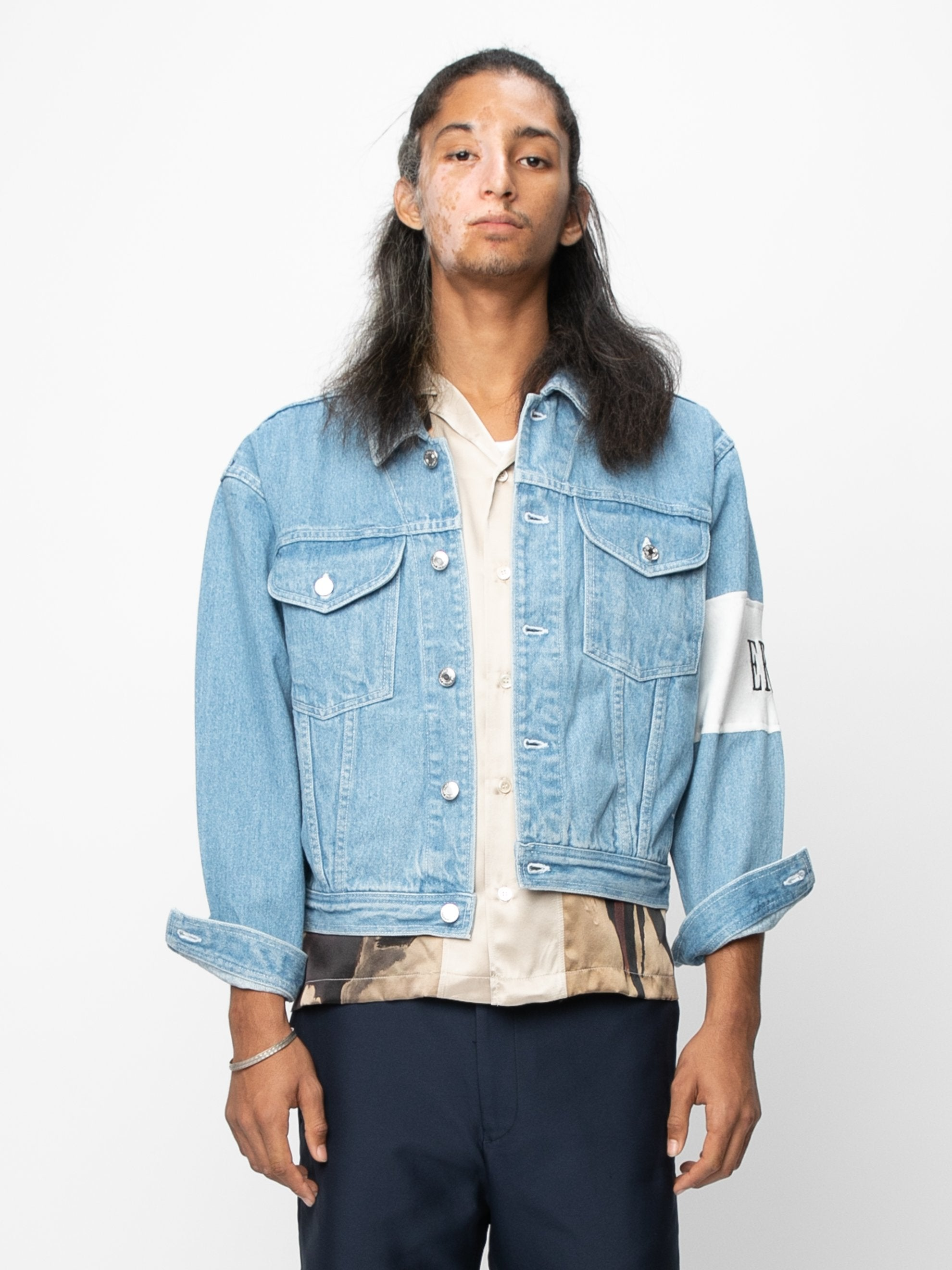 Vintage Blue / Cream Arcade Denim Jacket 2