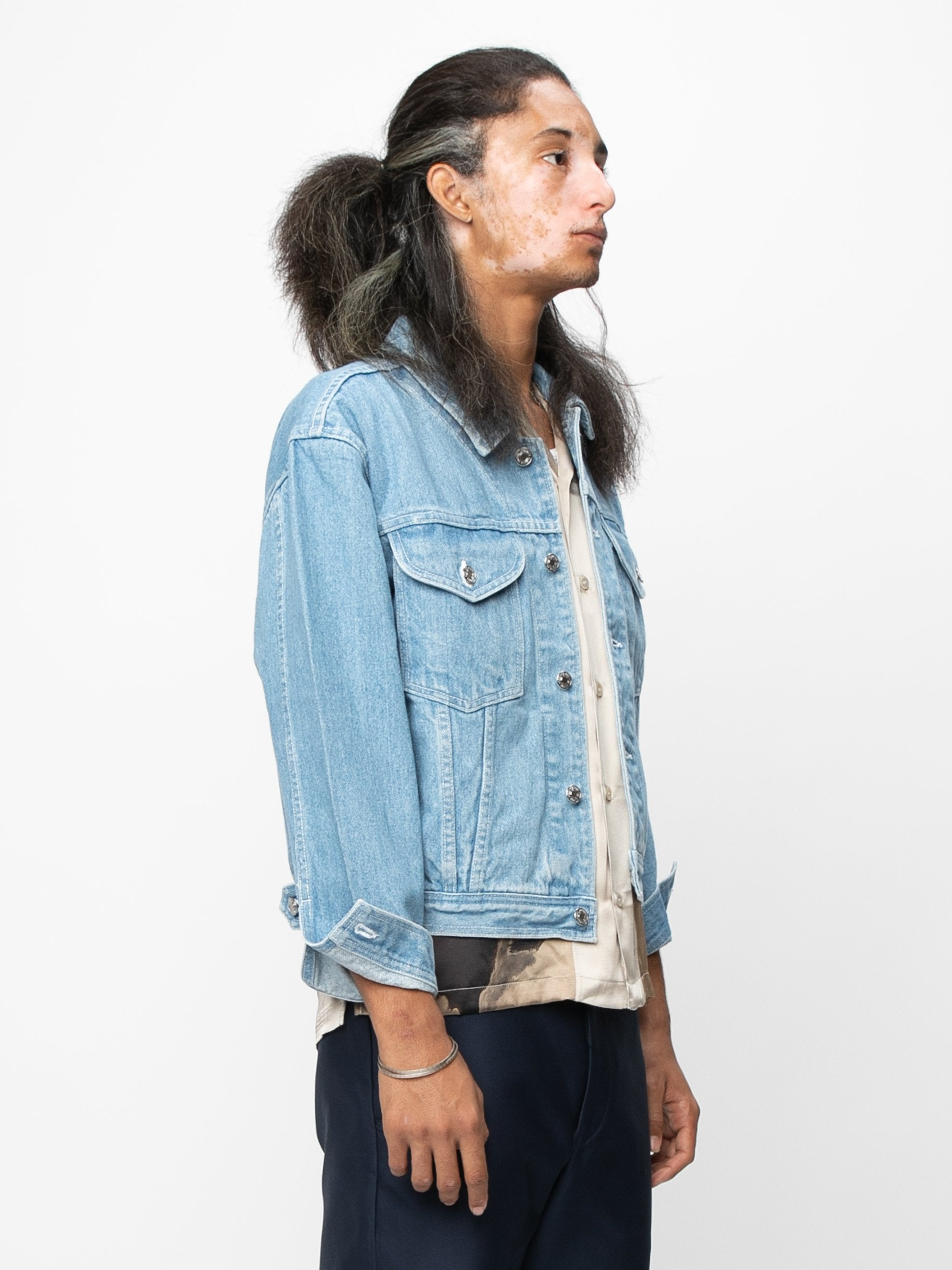 Vintage Blue / Cream Arcade Denim Jacket 4
