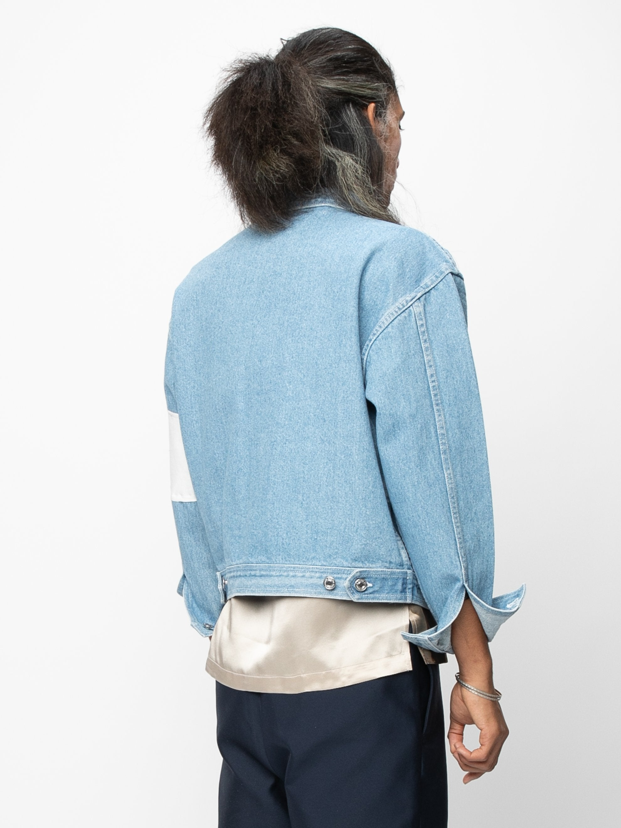 Vintage Blue / Cream Arcade Denim Jacket 5