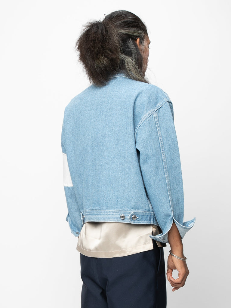 Vintage Blue / Cream Arcade Denim Jacket 514190621458509
