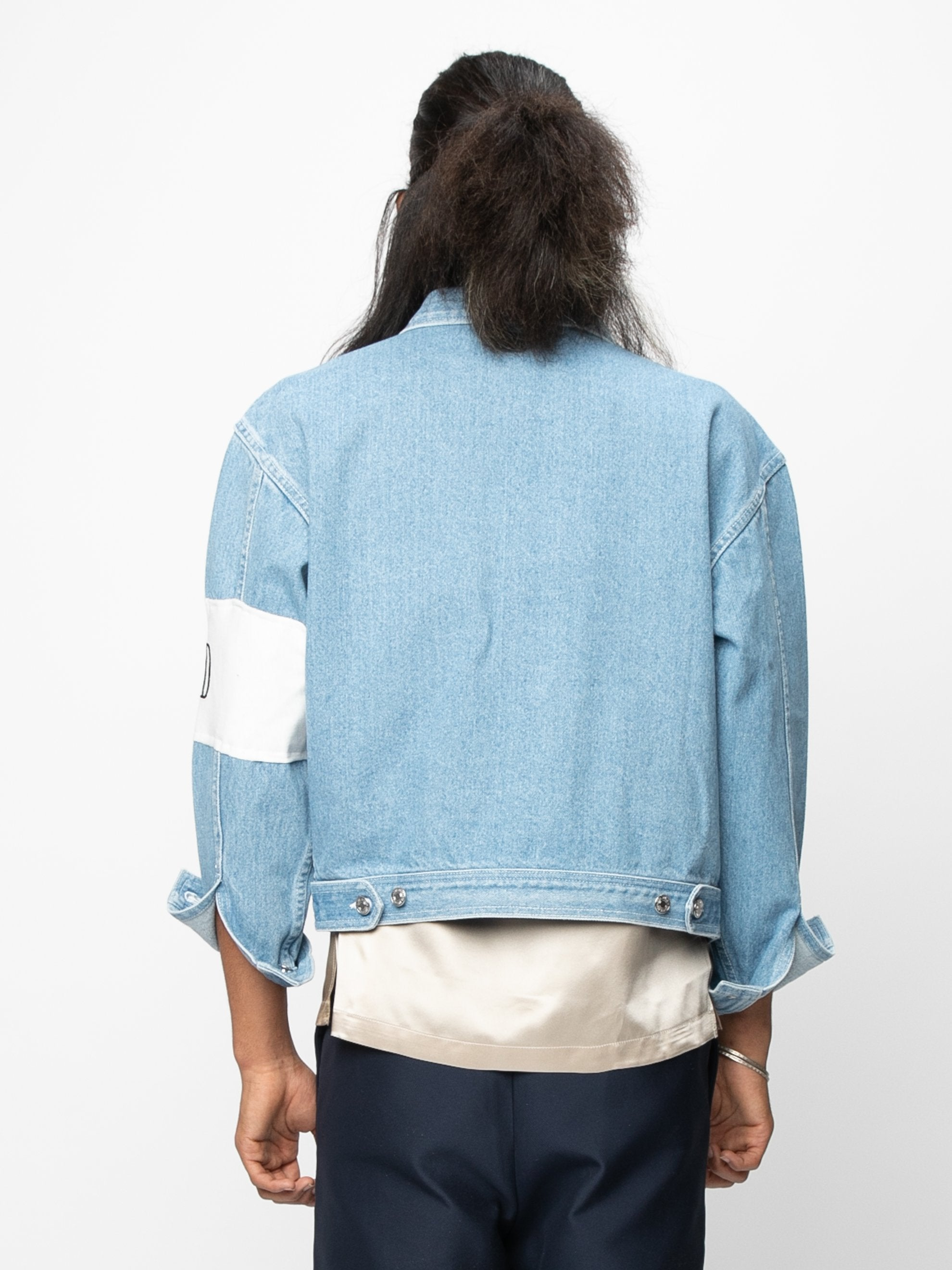 Vintage Blue / Cream Arcade Denim Jacket 6