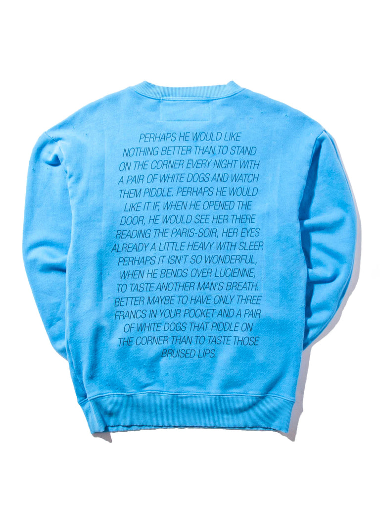 Blue Tropic Of Cancer Crewneck 518262864265