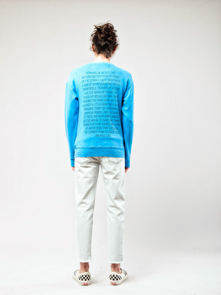 Blue Tropic Of Cancer Crewneck 418262873033