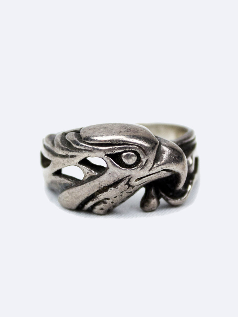 Vintage 1960's Sterling Silver Eagle Biker Ring