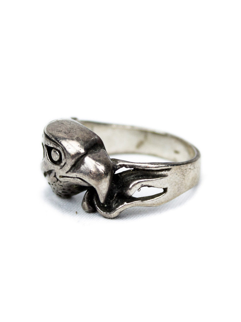 10 Vintage 1960's Sterling Silver Eagle Biker Ring 322304717641
