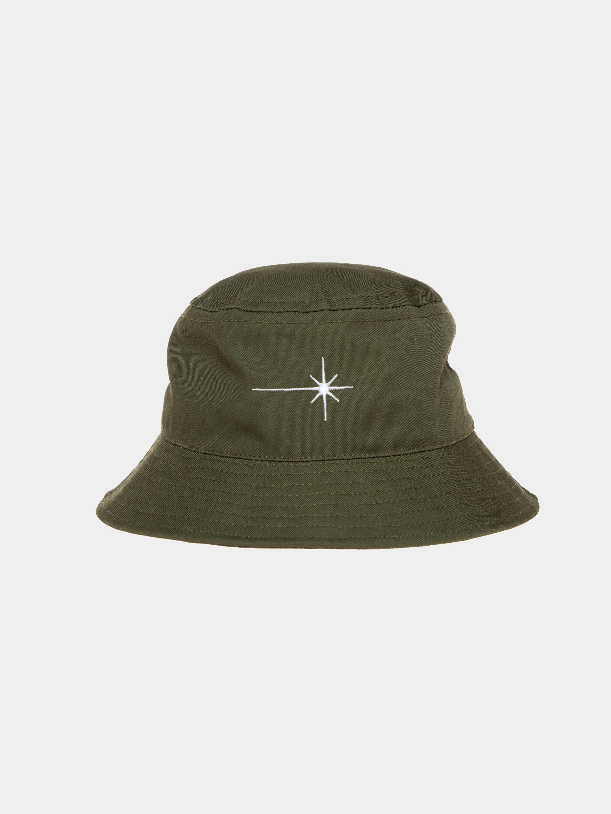 Olive Shining Star Recycled Bucket Hat 1