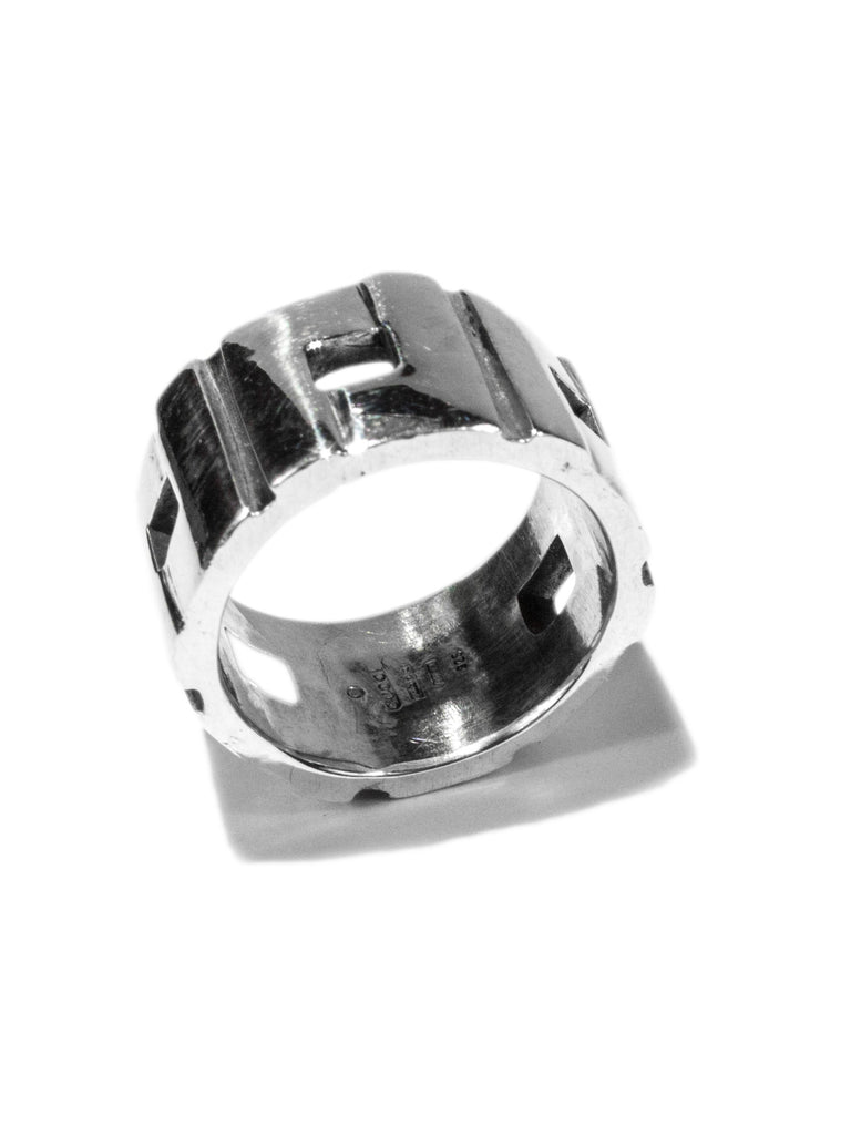 Vintage Gucci .925 Sterling Silver Modernist Ring