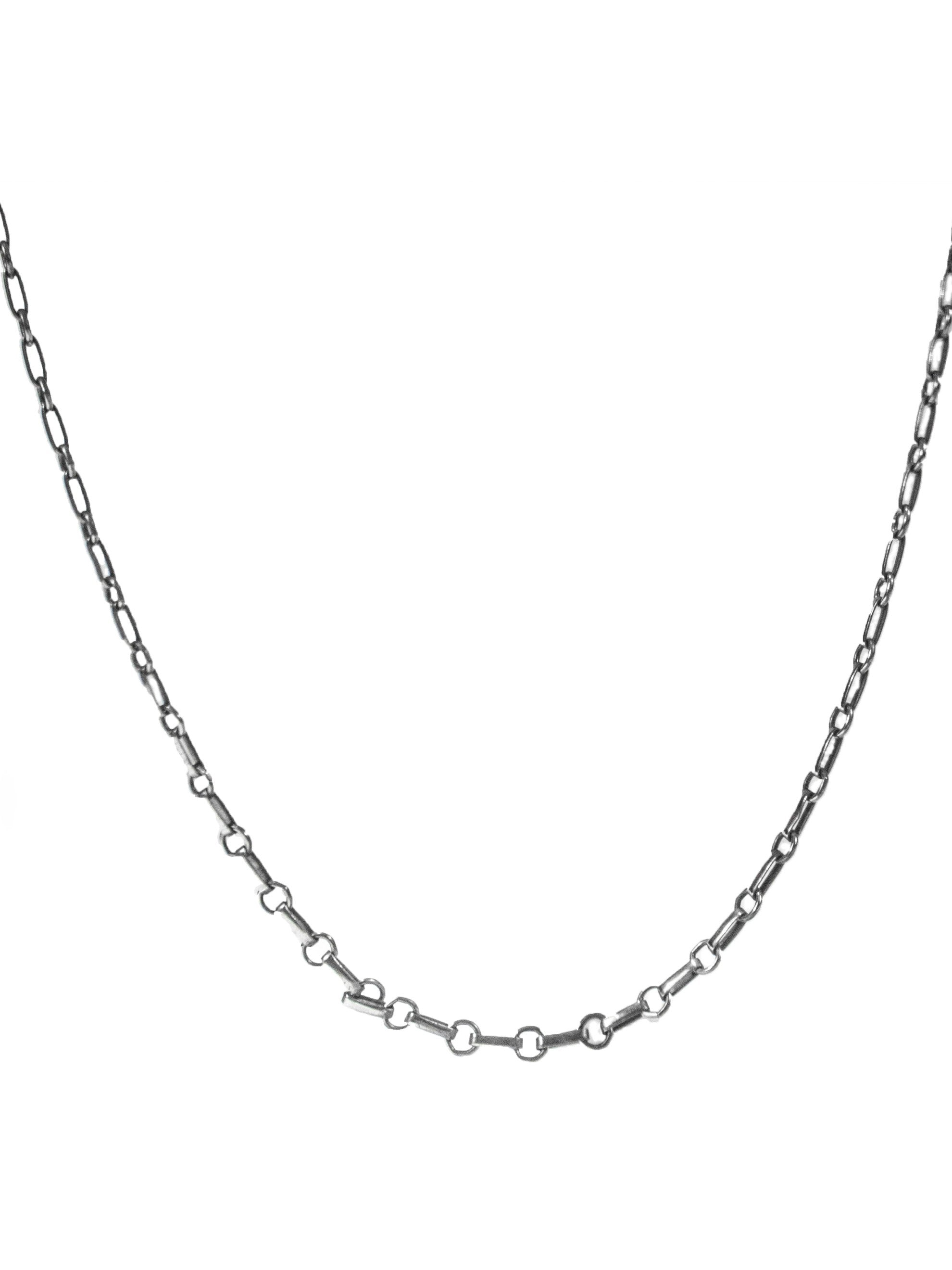 Sterling Silver Vintage .925 Sterling Silver Handmade Linked Chain Necklace 3