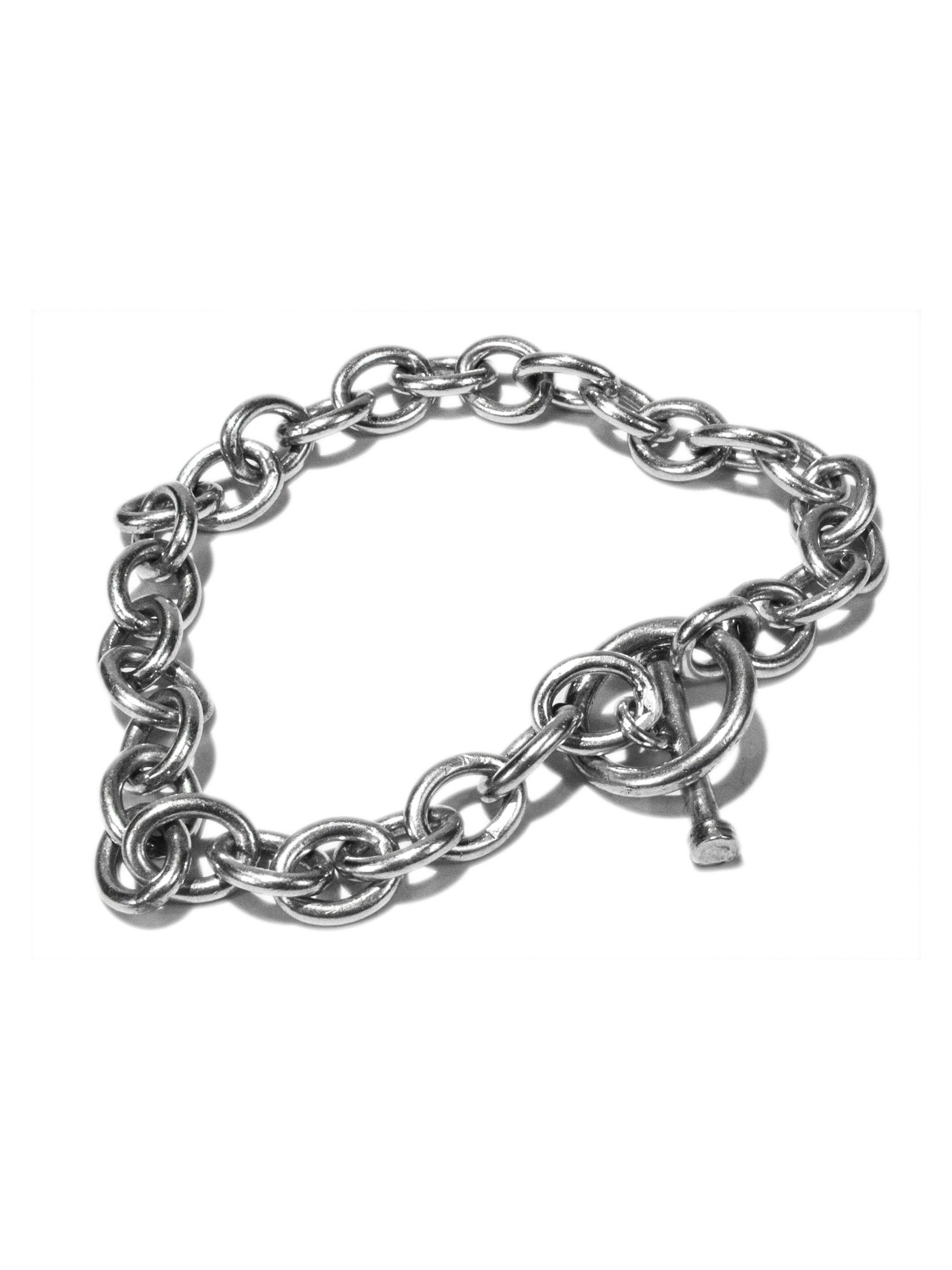 Vintage .925 Sterling Silver Oval Linked Bracelet