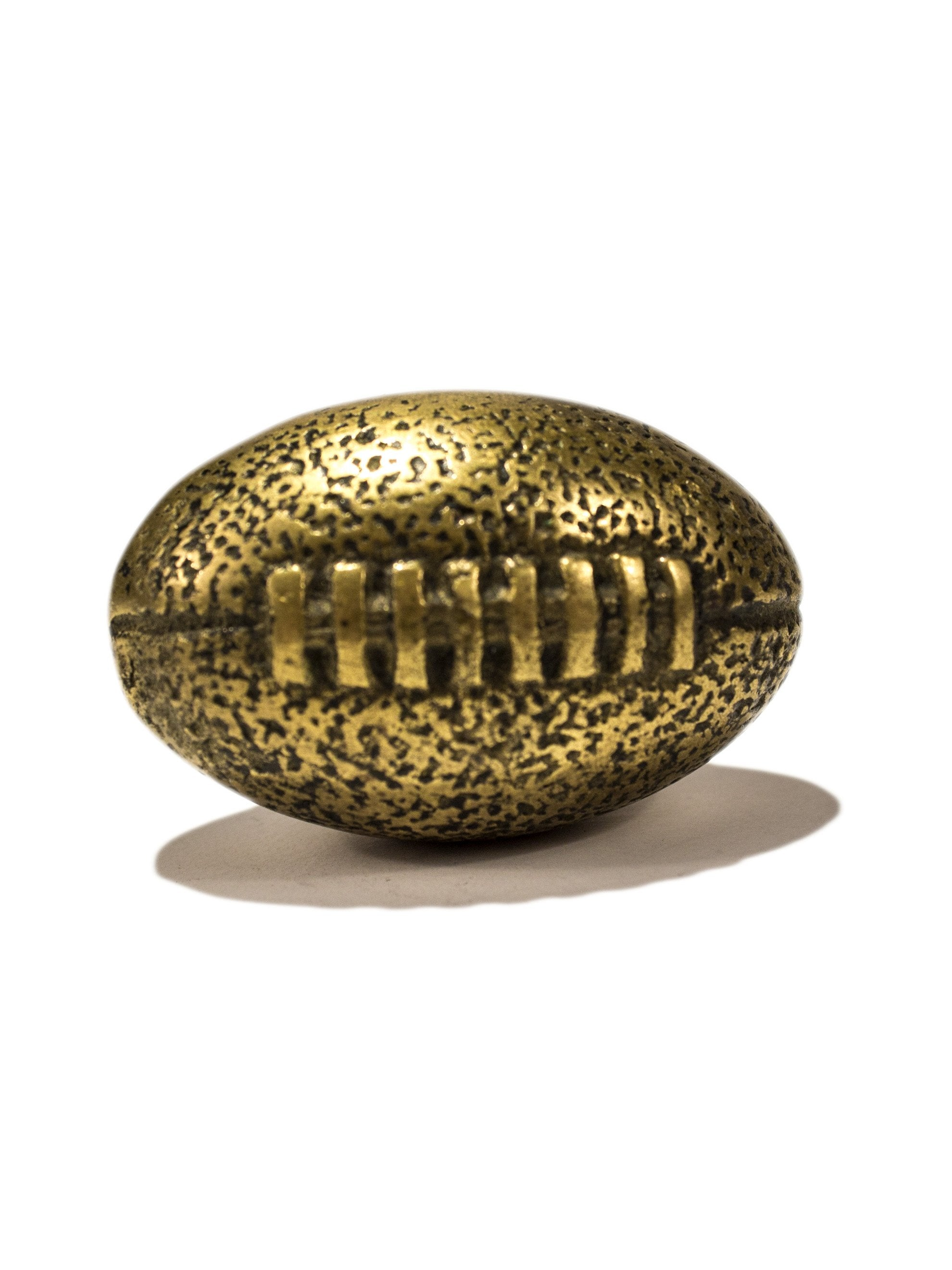 Brass 1950's Solid Brass Football Desktop Weight 2