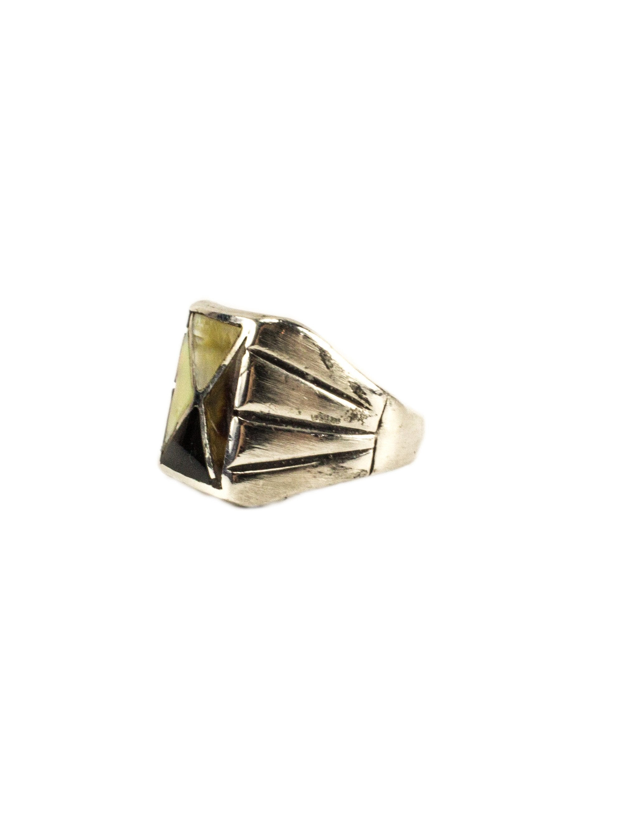 Vintage 1950's Zuni Sterling Silver Mens Ring