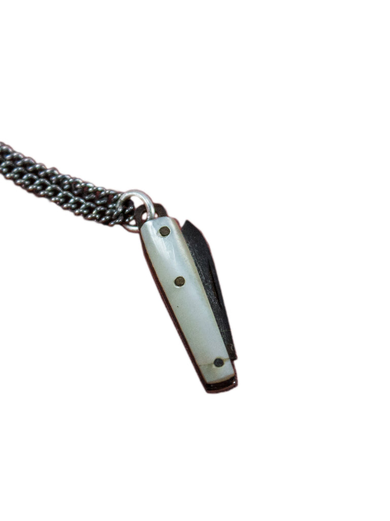 Vintage 1950's Miniture Pocket Knife Pendant Necklace
