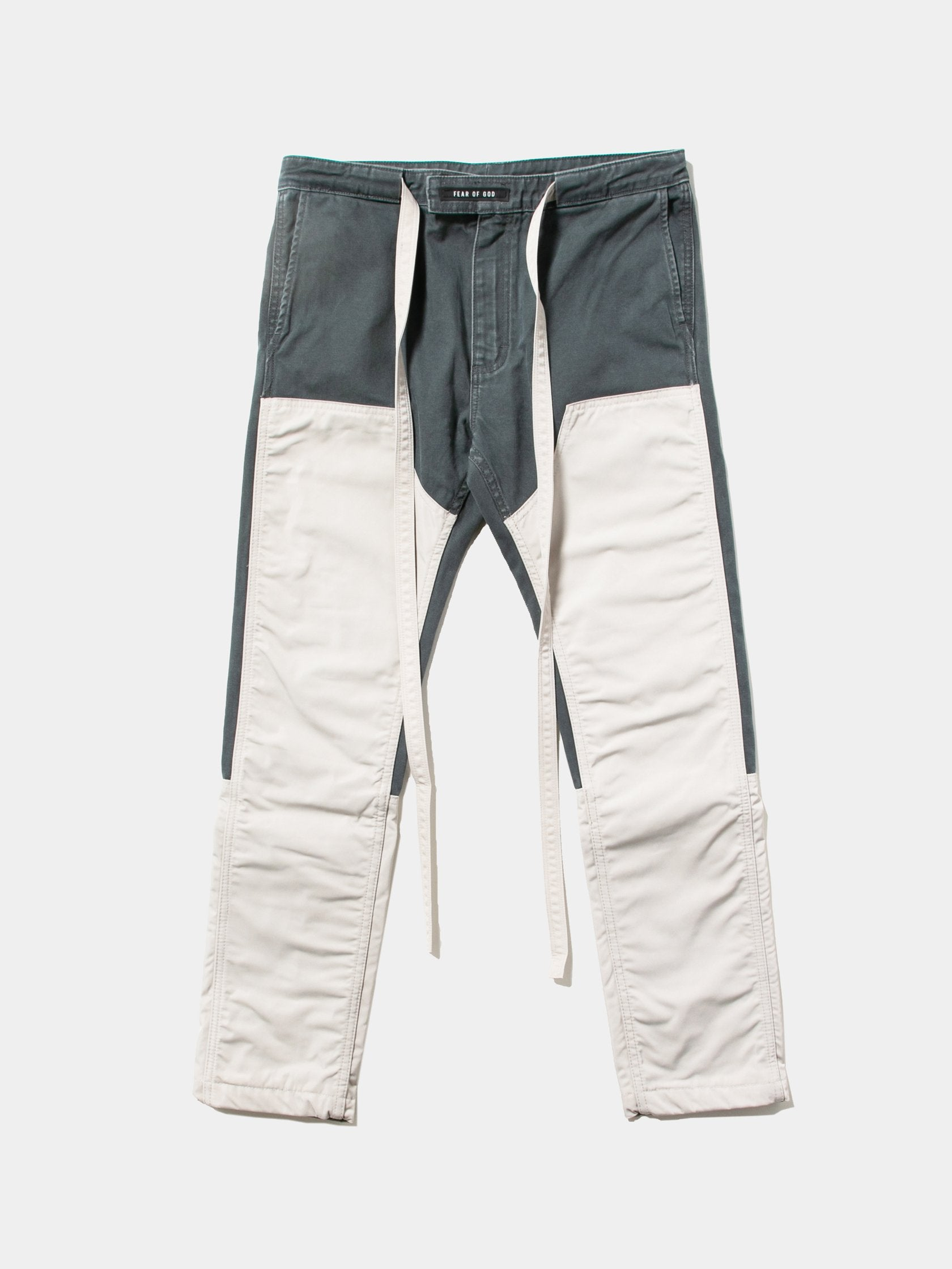 Seaweed / Bone Nylon Canvas Double Front Work Pant 1