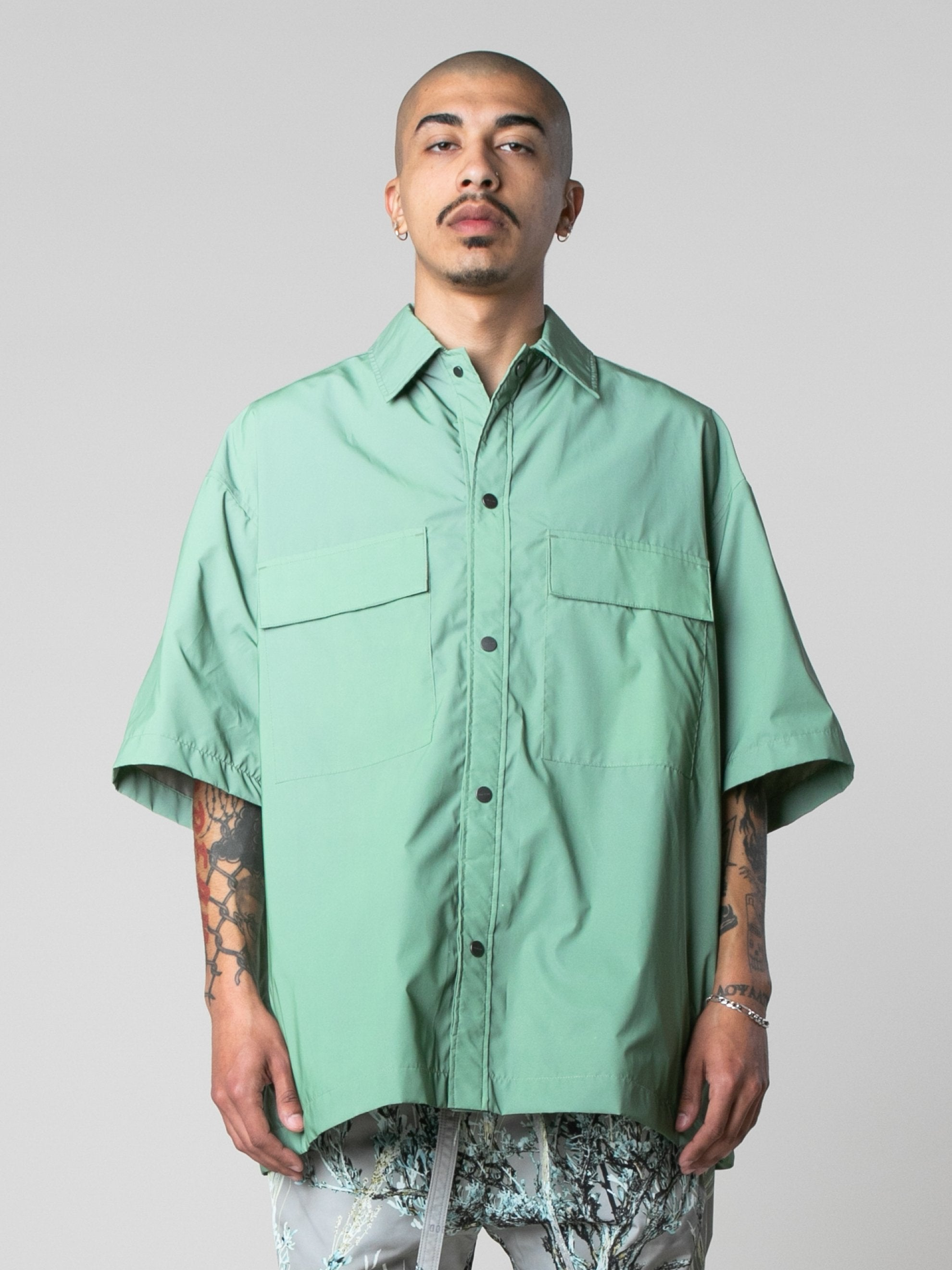 Army Iridescent Oversized Nylon Shirt 2