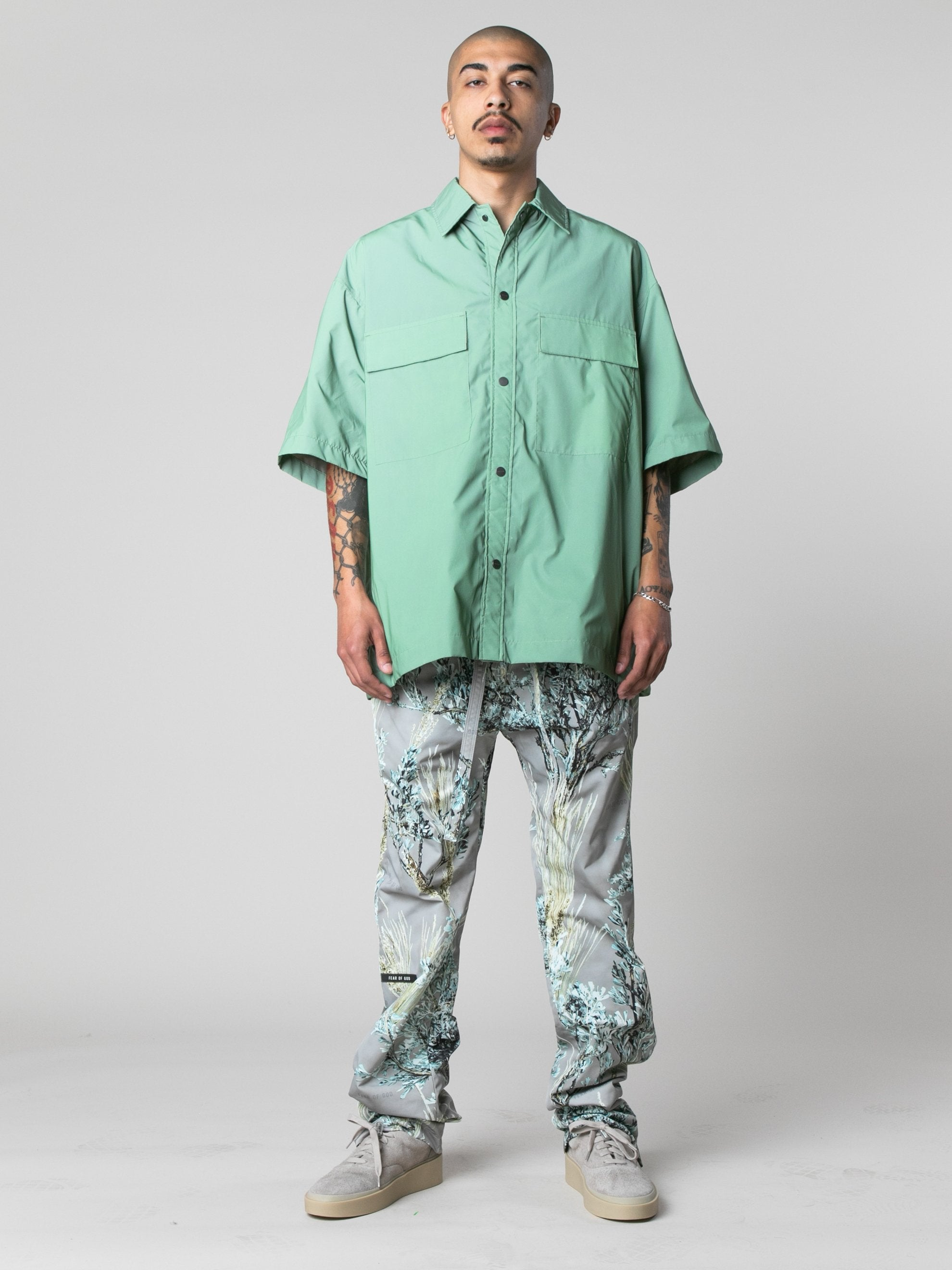 Army Iridescent Oversized Nylon Shirt 3