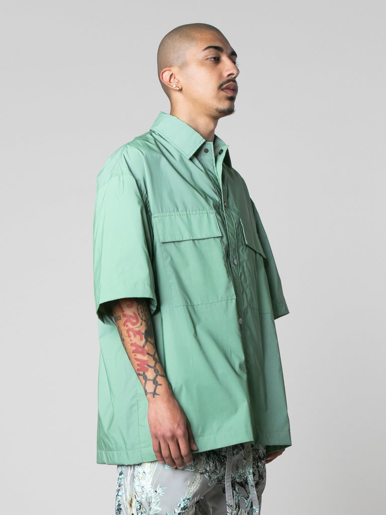 Army Iridescent Oversized Nylon Shirt 414016443809869