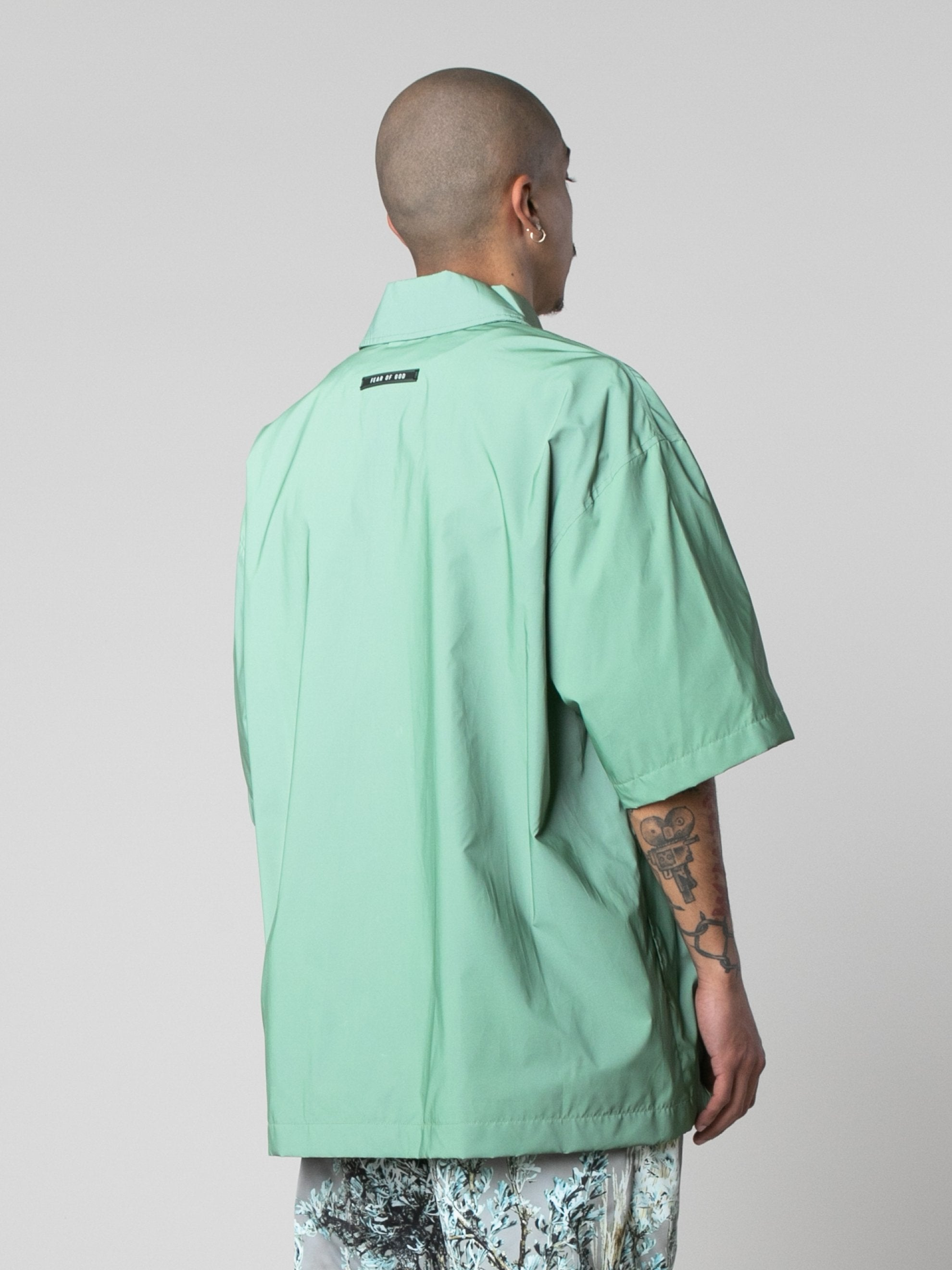 Army Iridescent Oversized Nylon Shirt 5