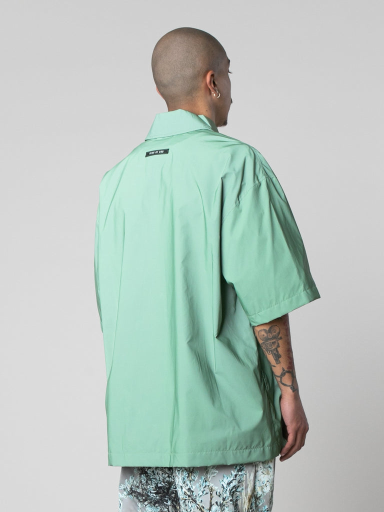 Army Iridescent Oversized Nylon Shirt 514016443842637