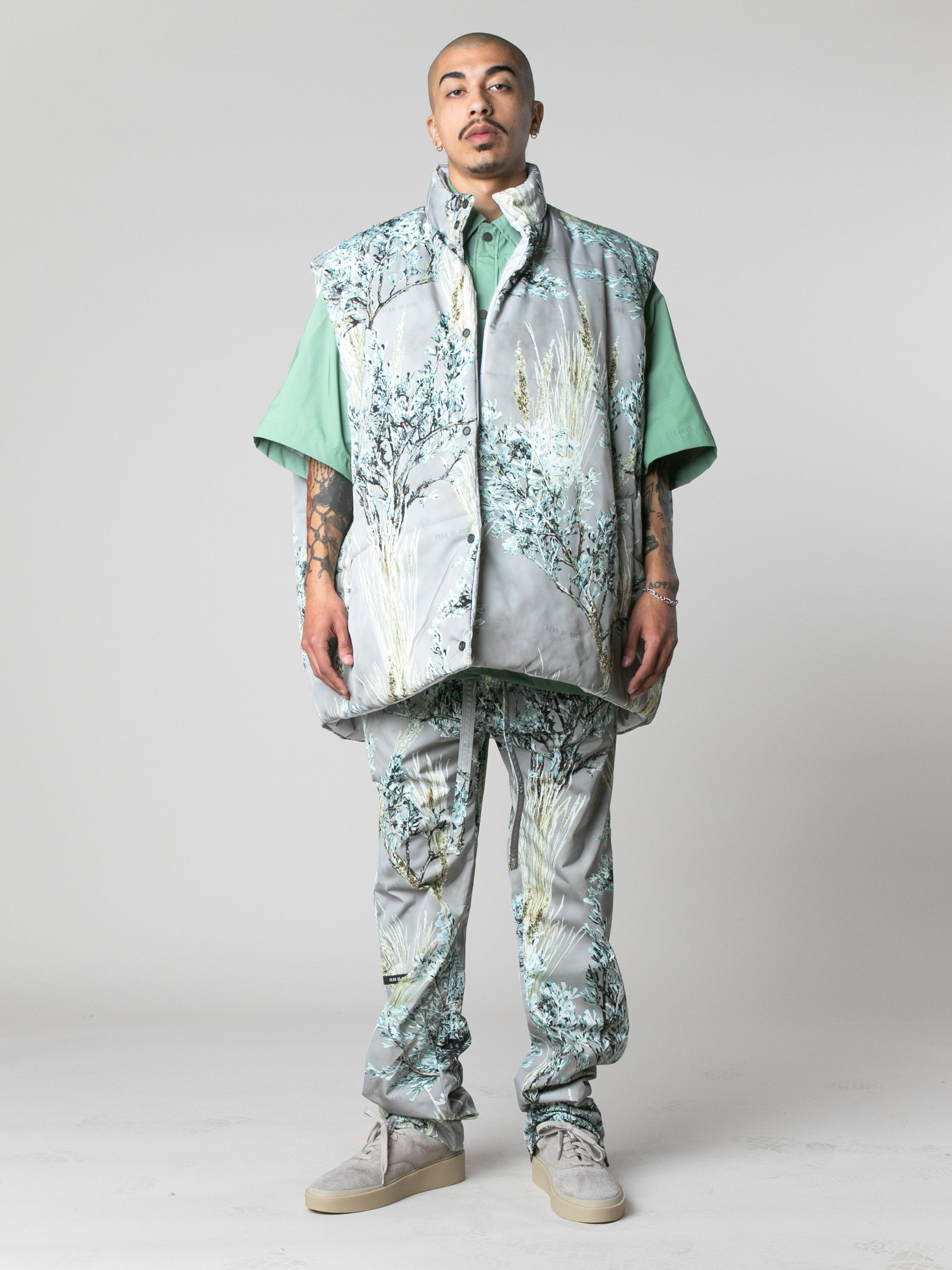 Prairie Ghost Reversible Nylon Oversized Vest 3