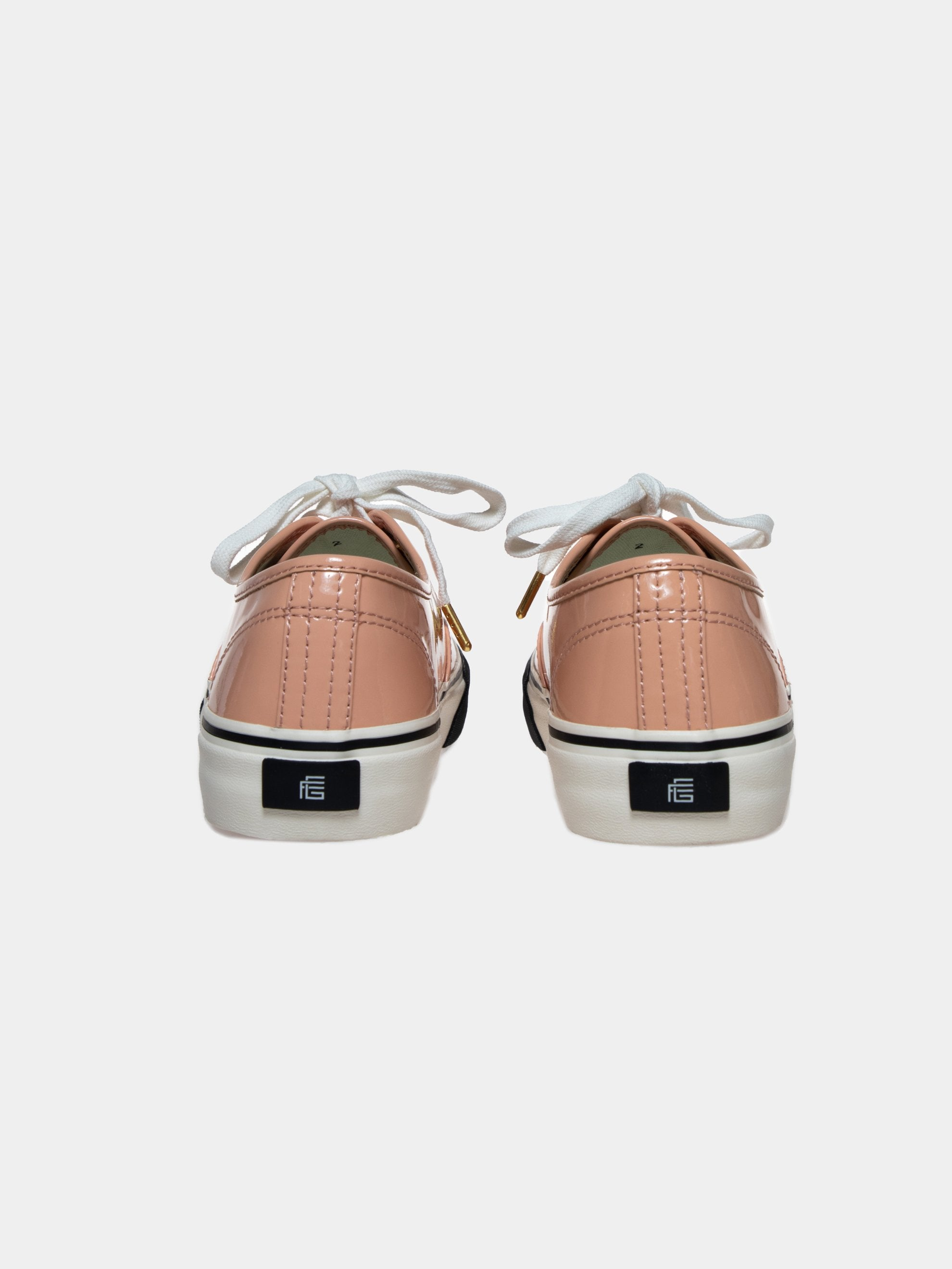 Pink/Beige Leather Skate Sneakers 4