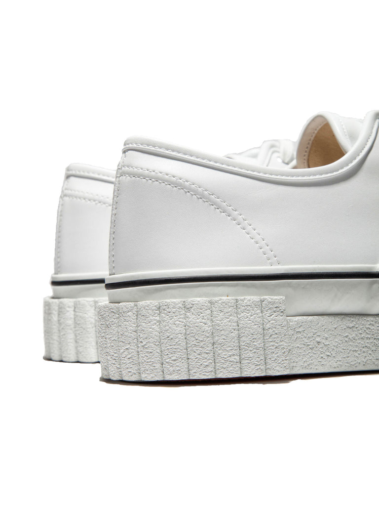 White Leather Creeper Lace-Up Sneaker 318995607945