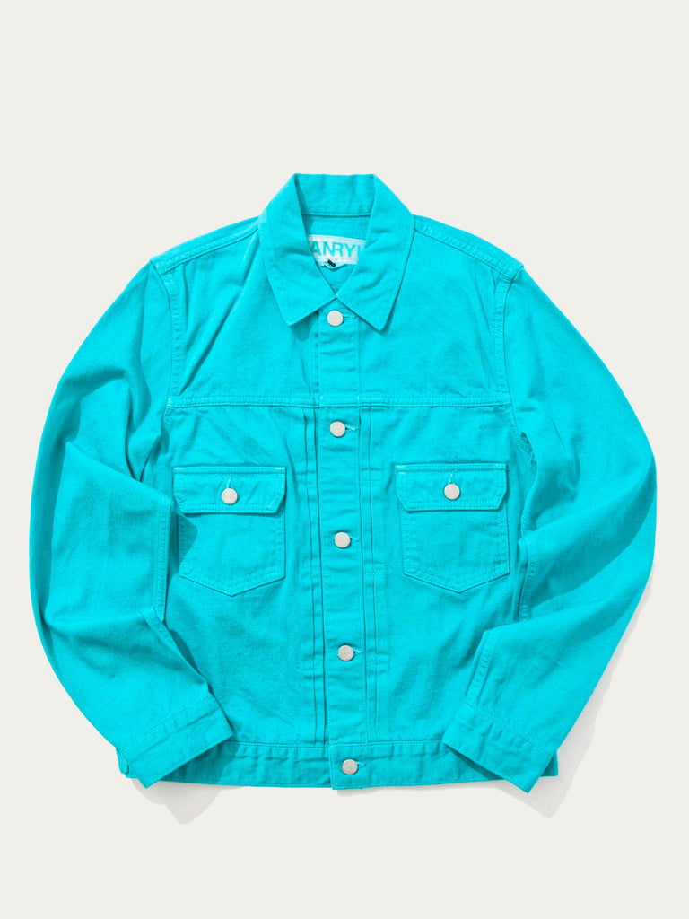 Teal Denim Jacket 718408163849